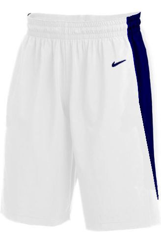 Teamwear - Nike Kids/Youth Team Basketball Stock Shorts - White/Navy - NK-NT0202-101