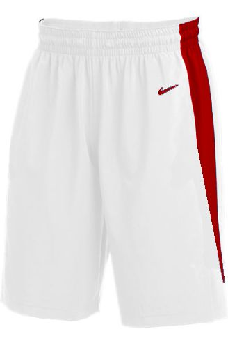 Teamwear - Nike Kids/Youth Team Basketball Stock Shorts - White/University Red - NK-NT0202-103