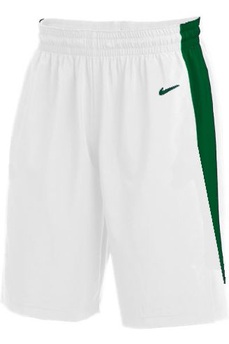 Teamwear - Nike Kids/Youth Team Basketball Stock Shorts - White/Pine Green - NK-NT0202-104