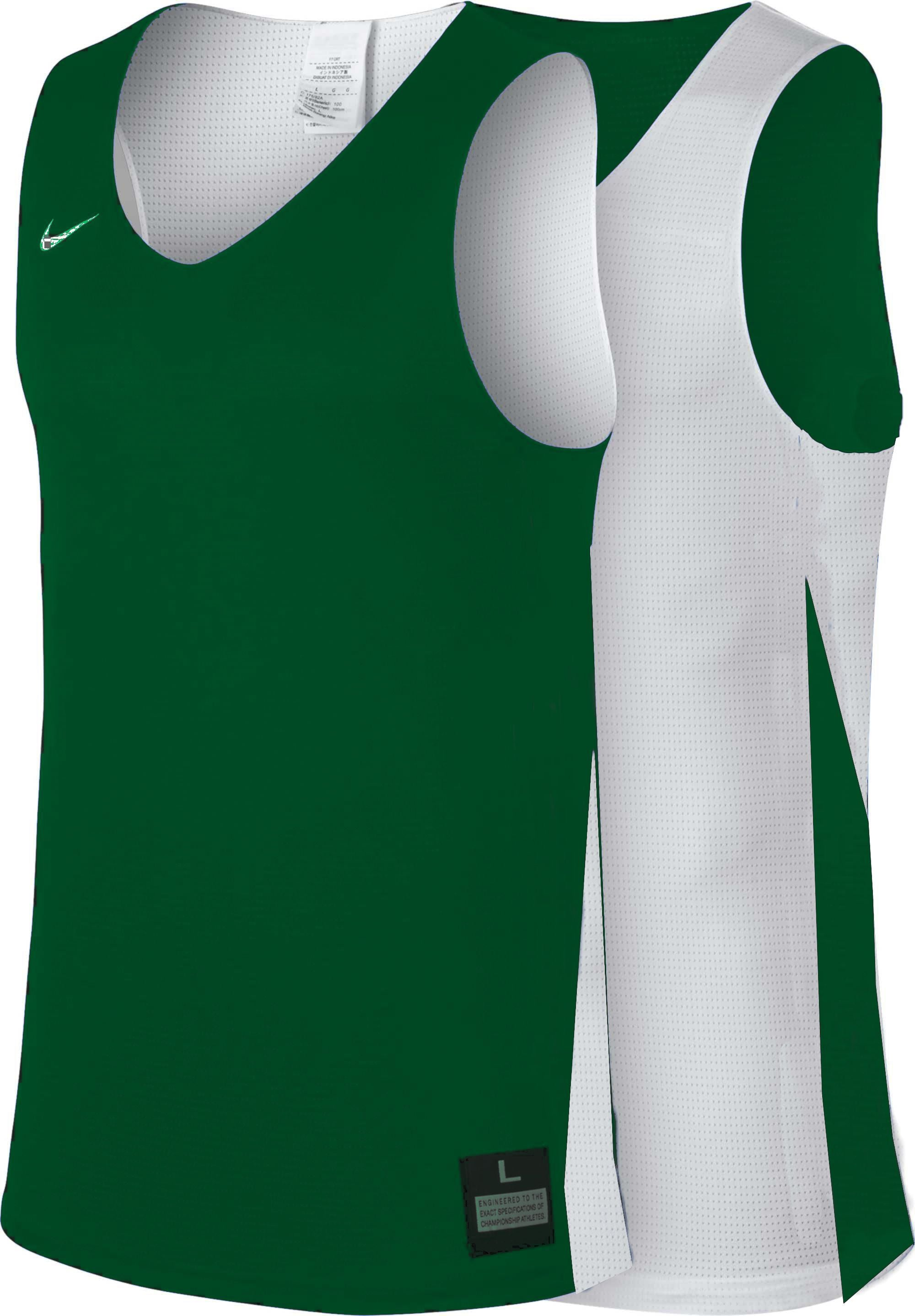 Teamwear - Nike Women's Team Basketball Reversible Jersey - White/Pine Green - NK-NT0213-302
