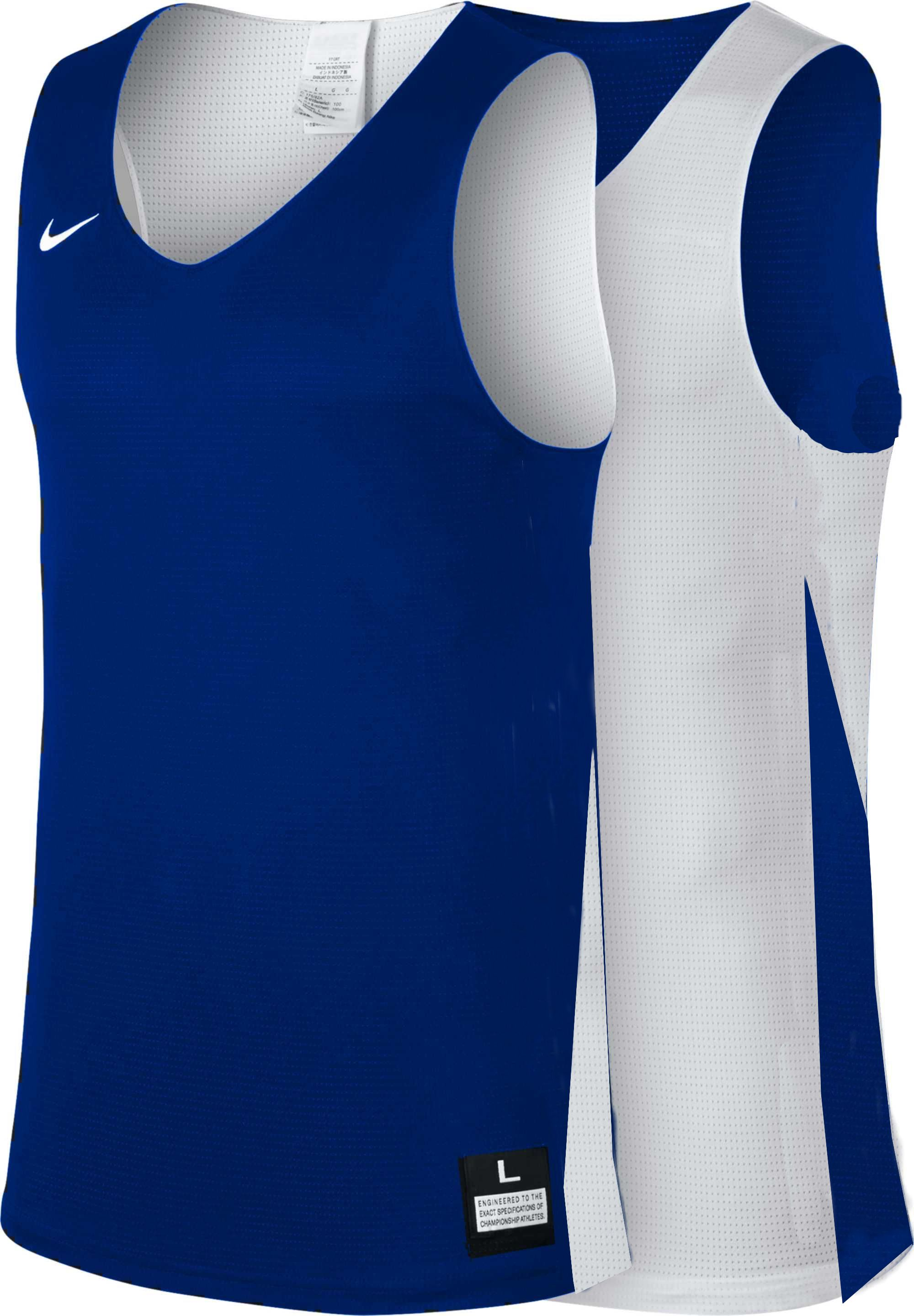 Teamwear - Nike Women's Team Basketball Reversible Jersey - Royal Blue/White - NK-NT0213-463