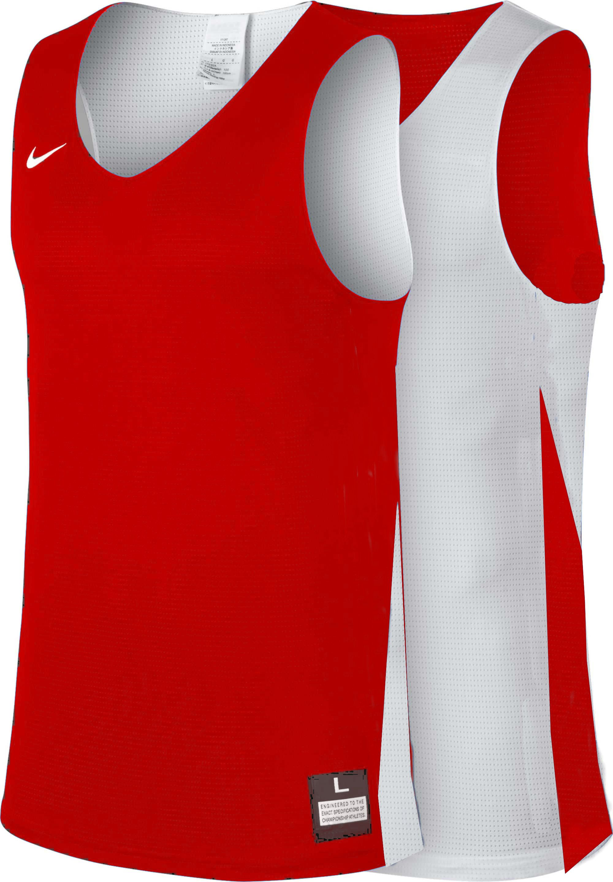 Teamwear - Nike Women's Team Basketball Reversible Jersey - University Red/White - NK-NT0213-657