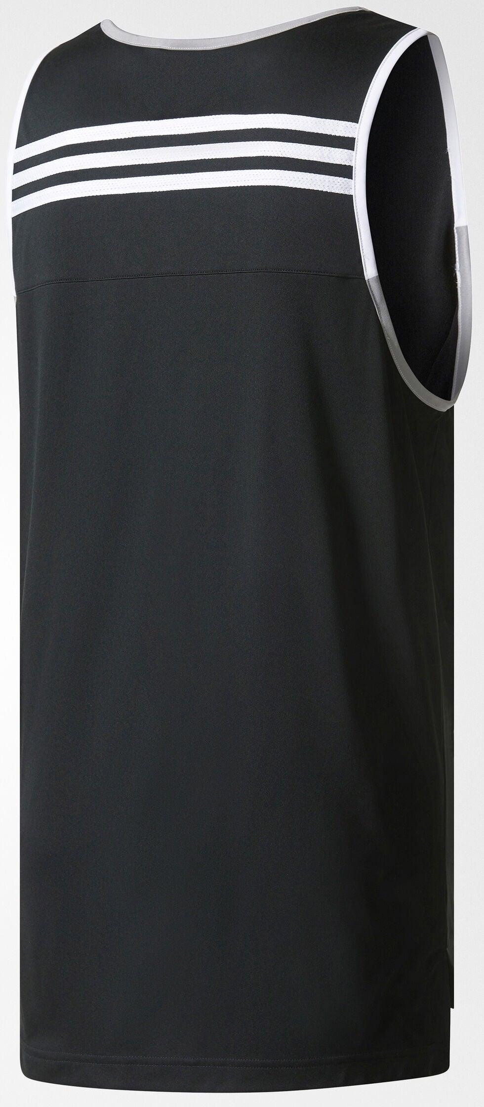 Adidas Commander Basketball Jersey - Black/Grey/White