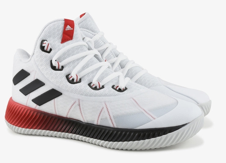 Adidas Kids Energy Bounce Basketball Boot/Shoe - White/Black/Red