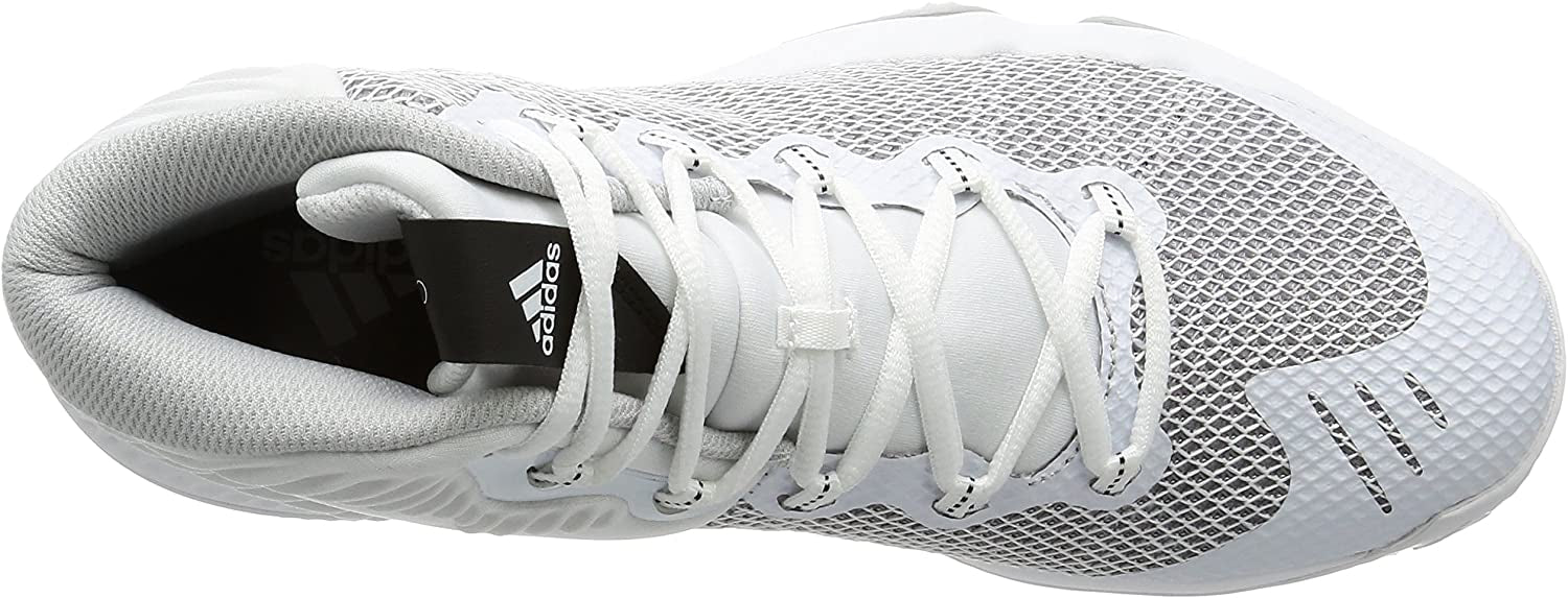 Adidas Crazy Hustle Basketball Boot/Shoe - White/Silver Grey/Grey