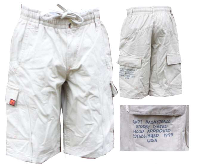 AND1 Mens Streetwear Fully Loaded Cargo Shorts AO-DAS7428MKH