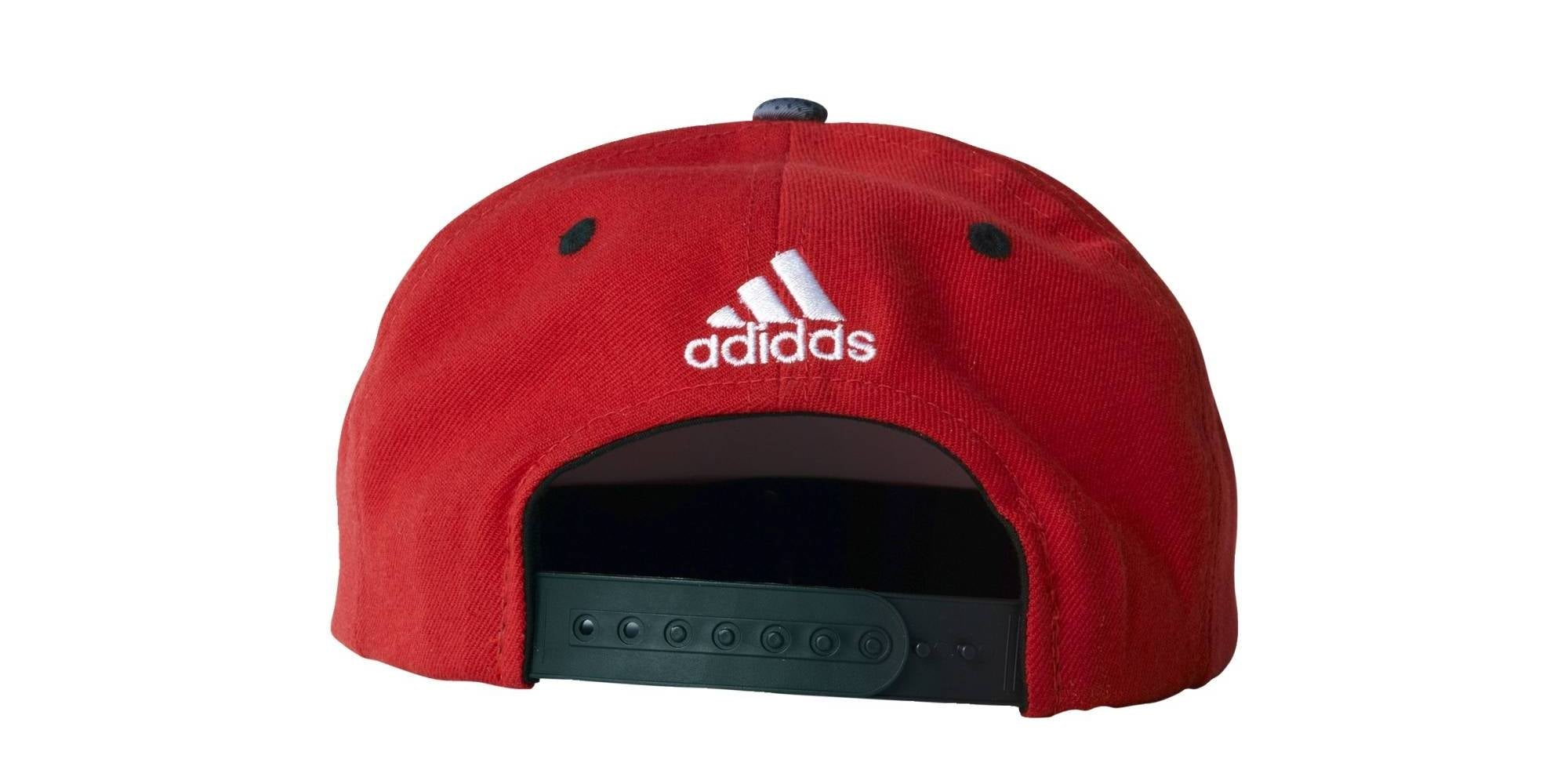 Adidas NBA Chicago Bulls Flat Peak Cap - Red/Black/White