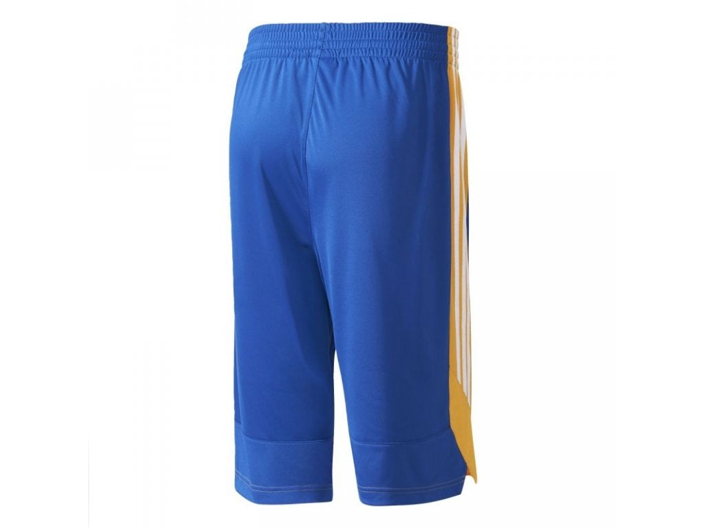 Adidas Commander Basketball Shorts - Blue/Golden Yellow/White