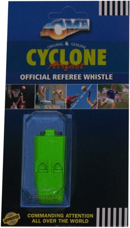 ACME Cyclone Pealess Referees Whistle - Assorted Colours
