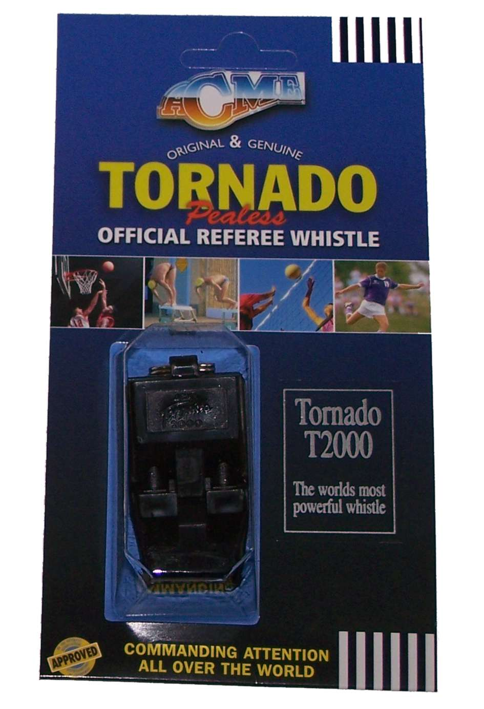 ACME na Tornado 2000 Pealess Referees Whistle DI-WHTORNADO2K