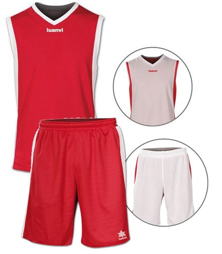 Luanvi Unisex Team Reversible Kit - Red/White LU-05125-05126-1084