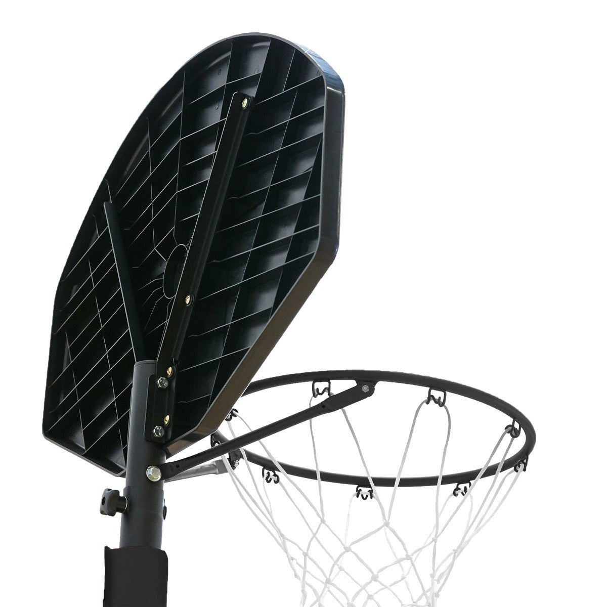NET1 Junior Xplode Portable Basketball System - Black/Brown