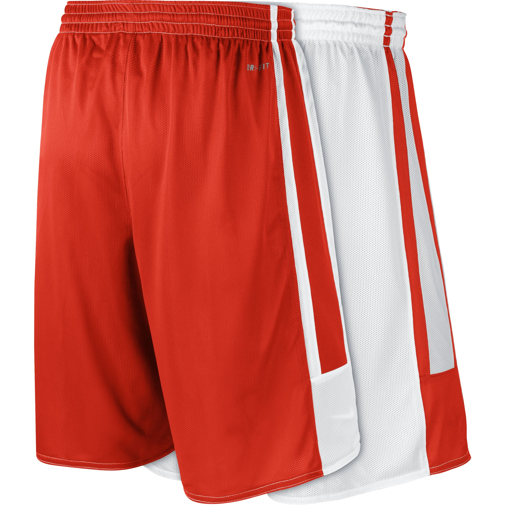 Nike Basketball Stock League Reversible Basketball Shorts - Team Scarlet/Team White