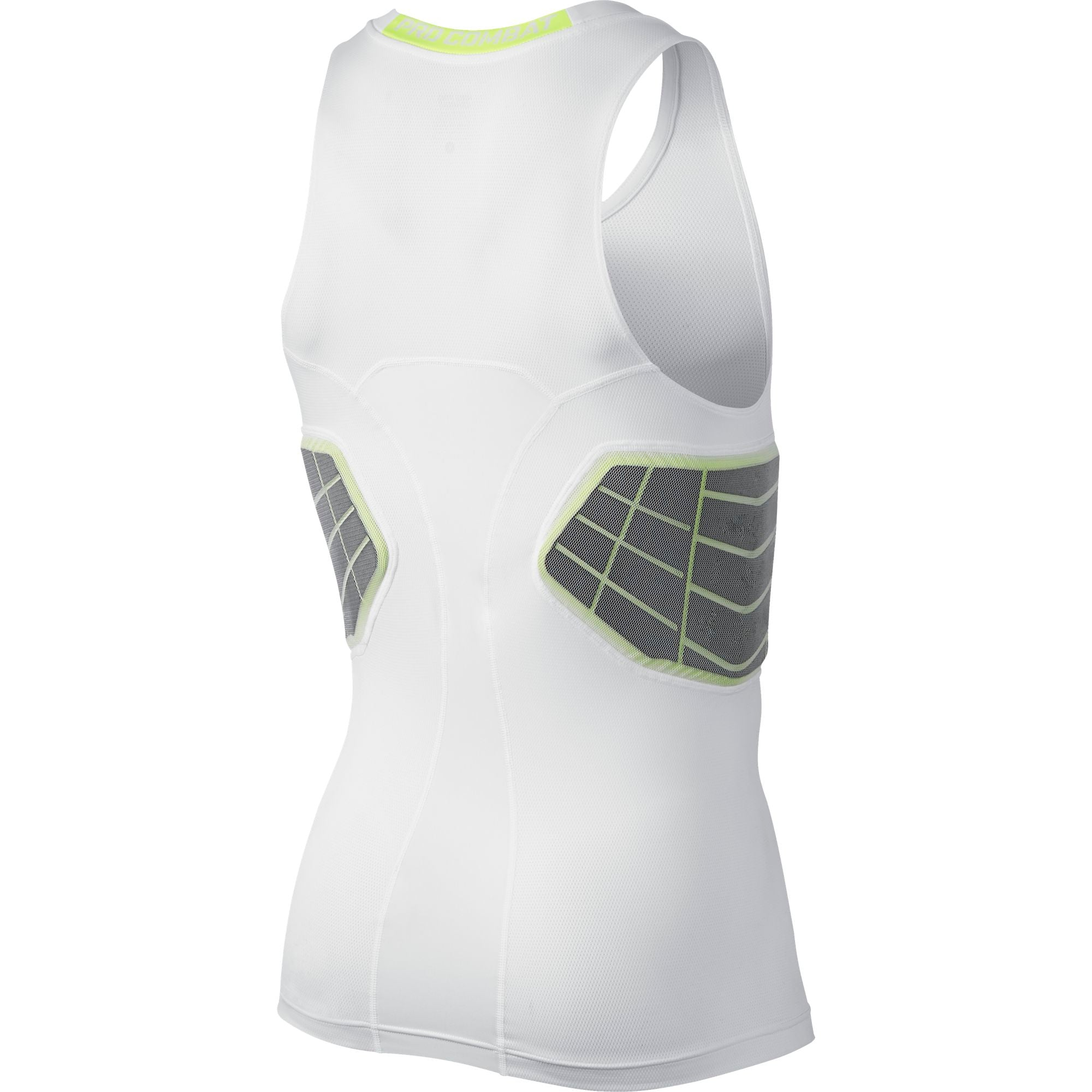Nike Basketball Pro Combat Hyperstrong Elite Sleeveless Basketball Compression Top - White/Volt
