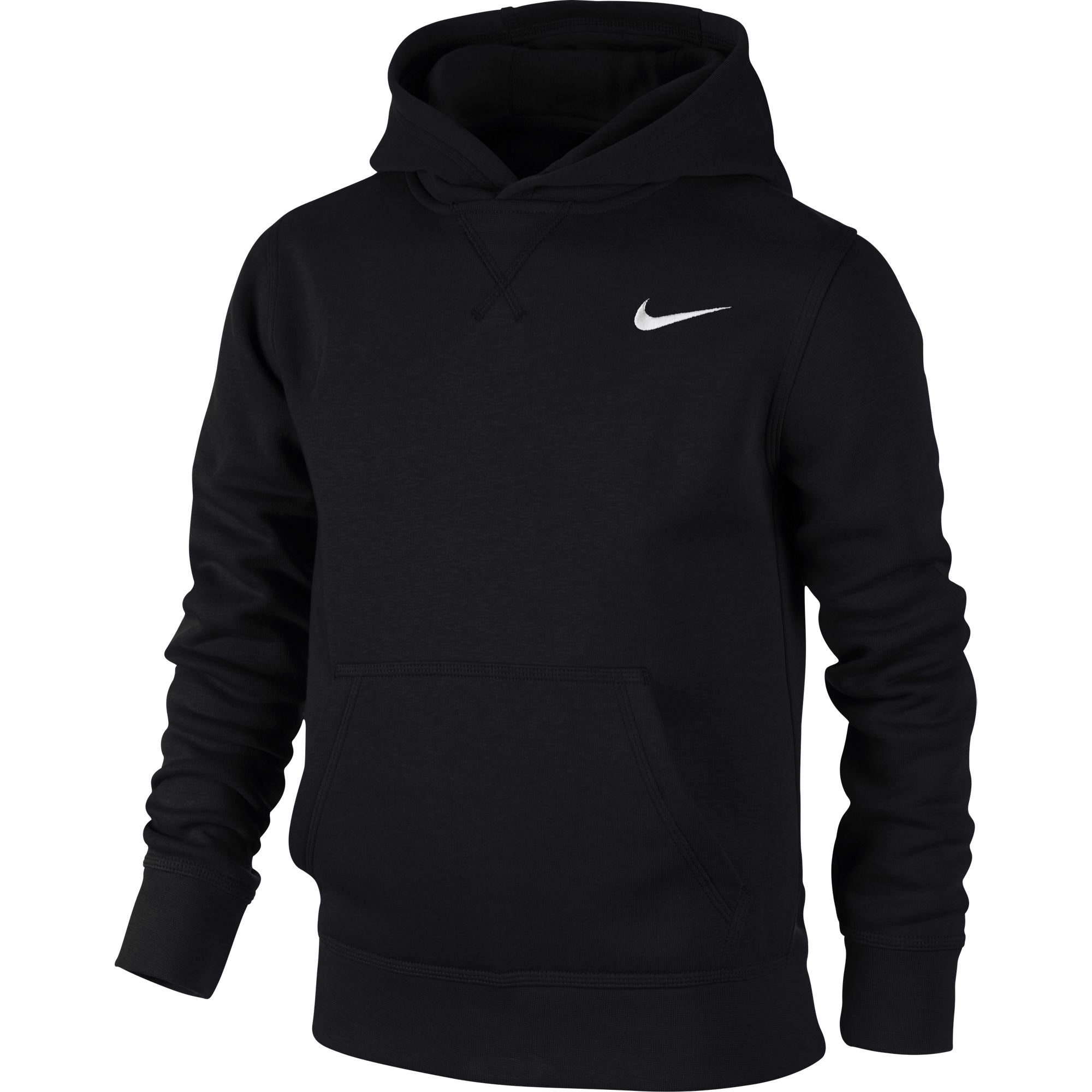 Nike Kids YA76 Brushed Fleece Pull-On Hoodie - NK-619080-010