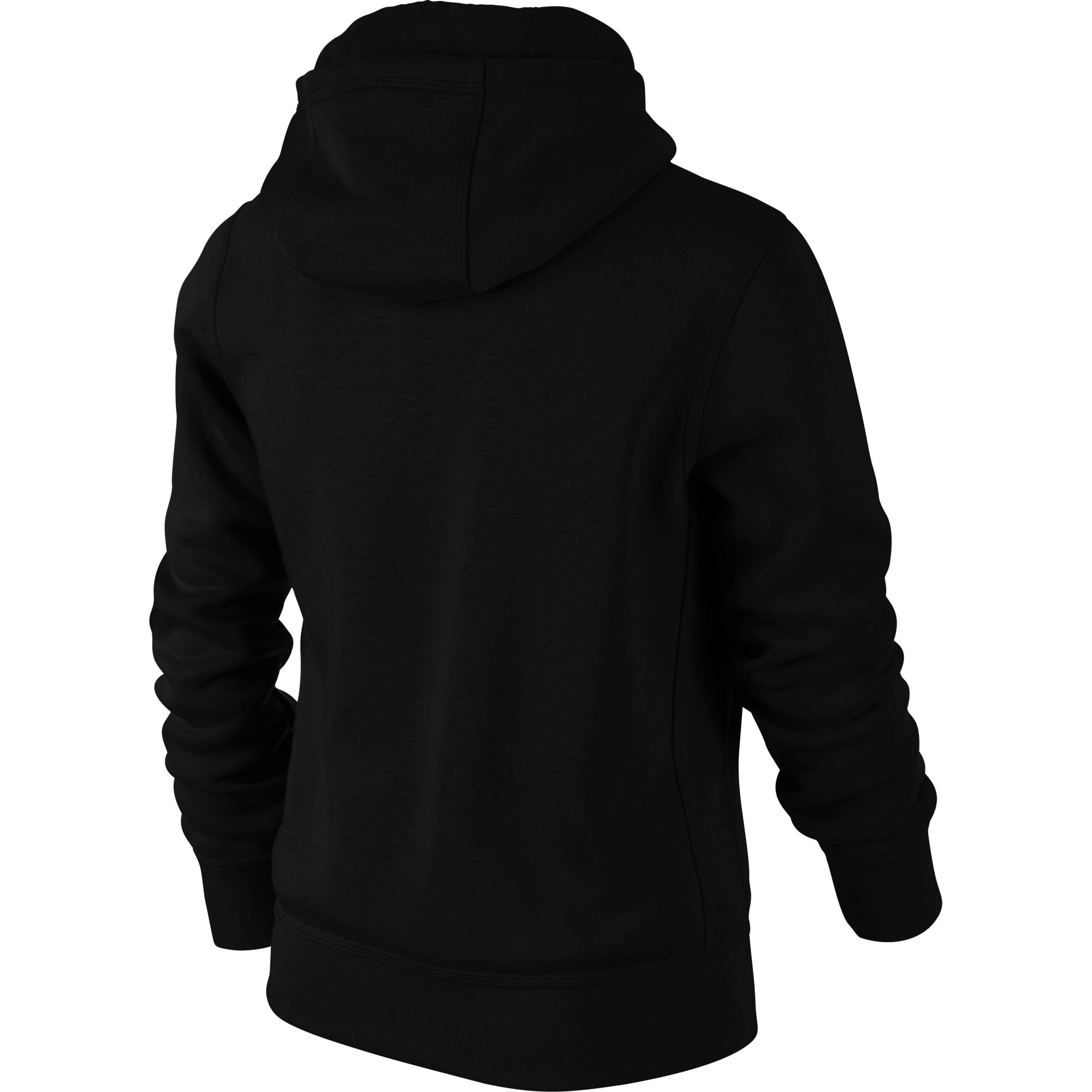 Nike Kids YA76 Brushed Fleece Pull-On Hoodie - Black/White