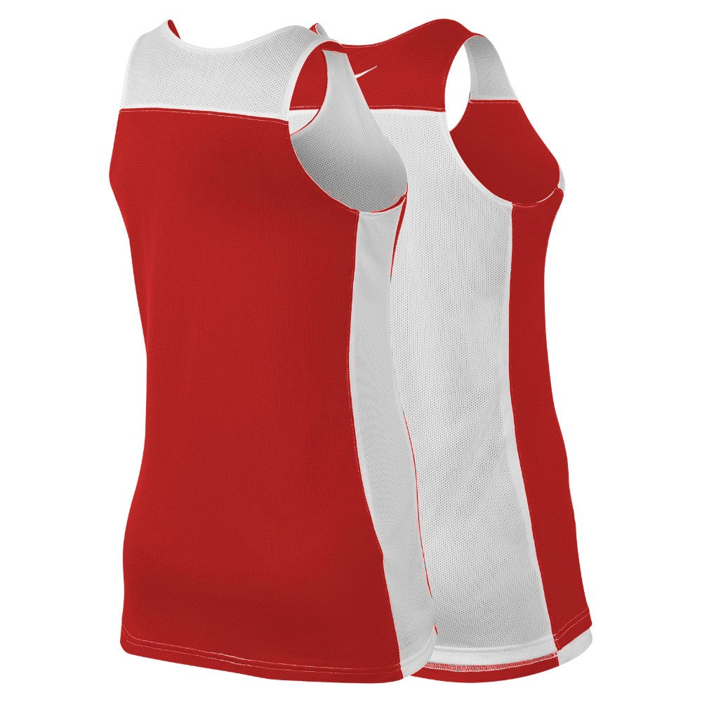 Nike Womens Basketball Team League Reversible Top - Red/White