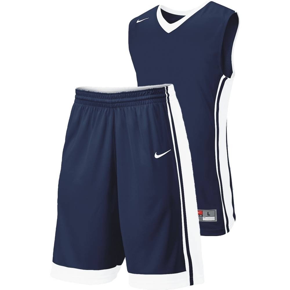 Nike Basketball Team National Varsity Stock Kit - Dark Navy/White NK-639394-420-639400-420