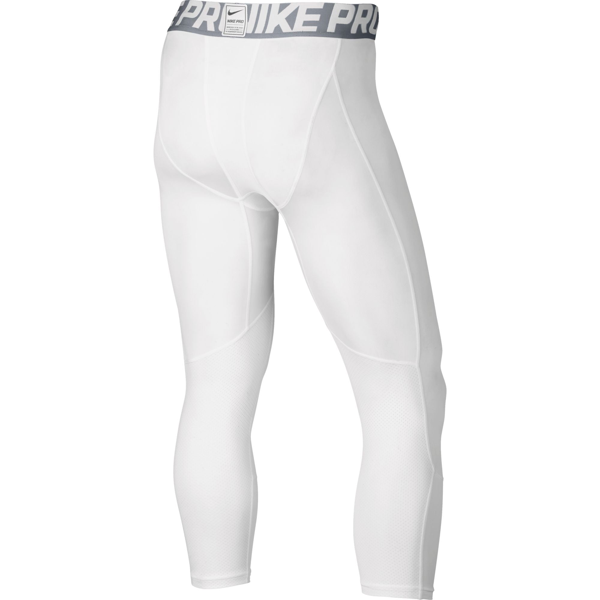 Nike Basketball Pro Hypercool Compression Three-quarter Length Tights - White/Wolf Grey