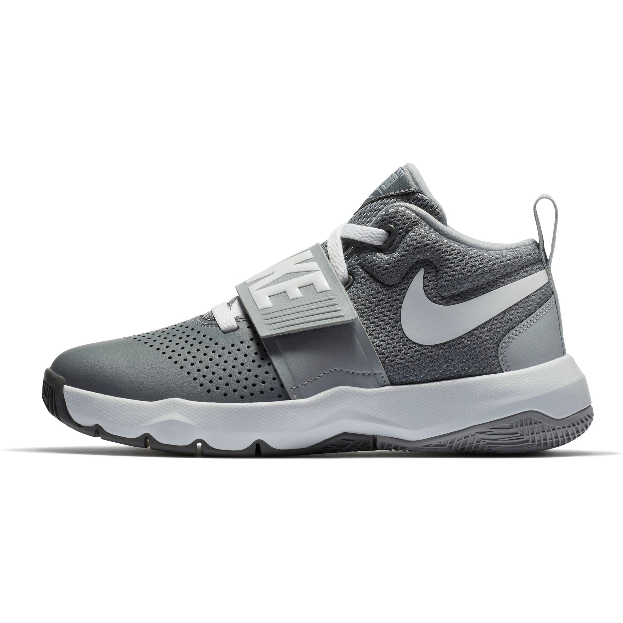 Nike Kids Team Hustle D 8  Basketball Boot/Shoe - Cool Grey/Wolf Grey/White