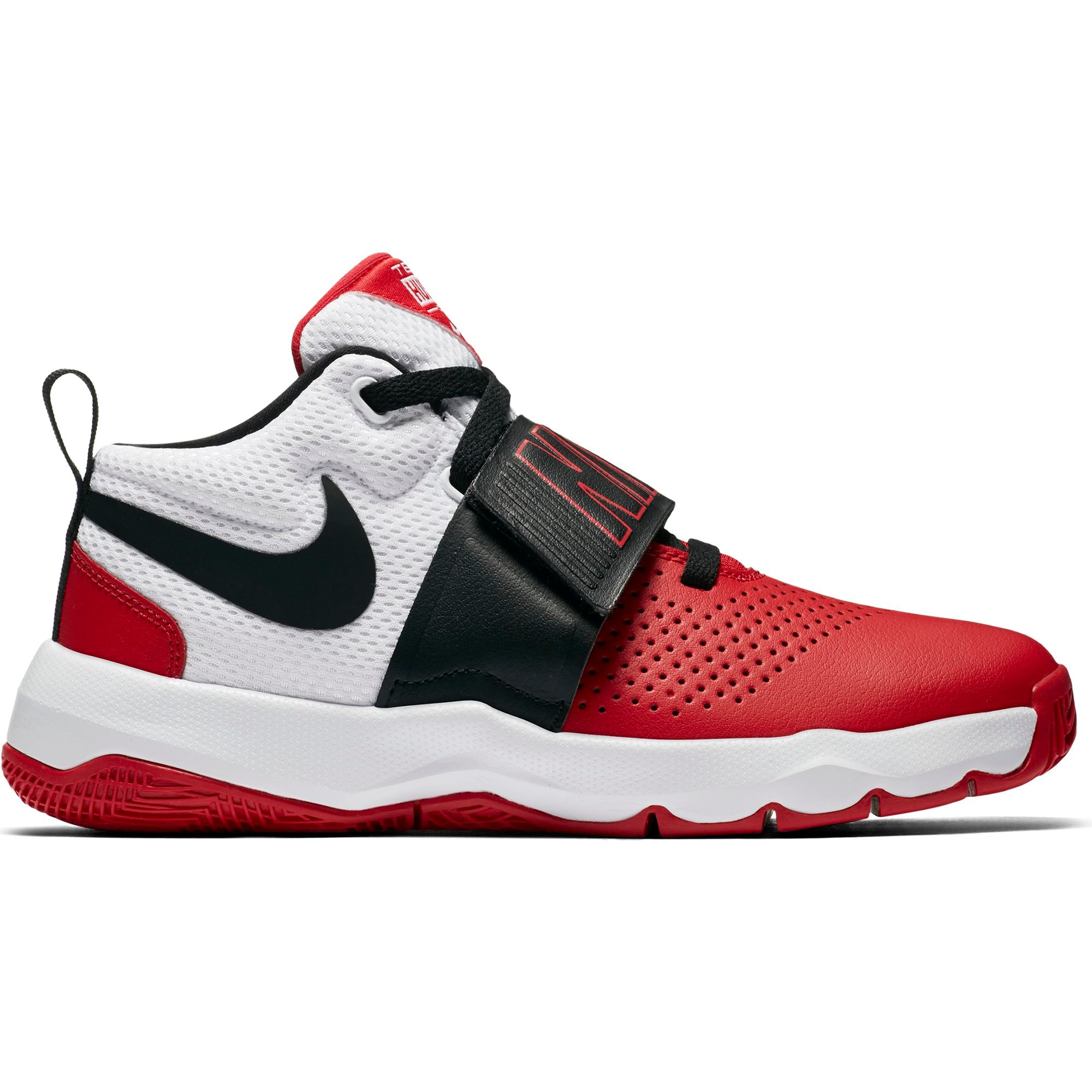 Nike Kids Team Hustle D 8  Basketball Boot/Shoe - University Red/Black/White