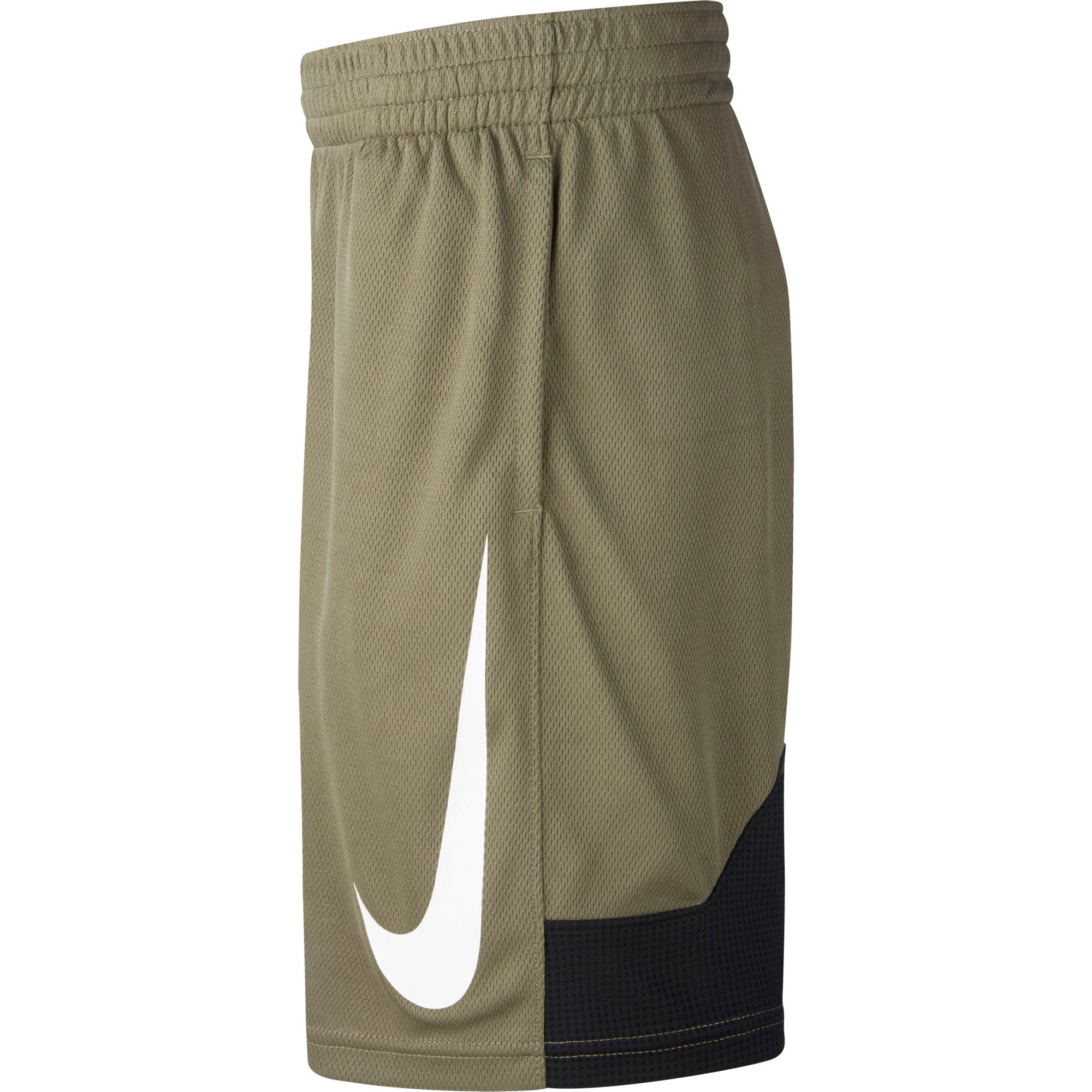 Nike Kids Dry Fit Basketball Shorts - Medium Olive/Black/White
