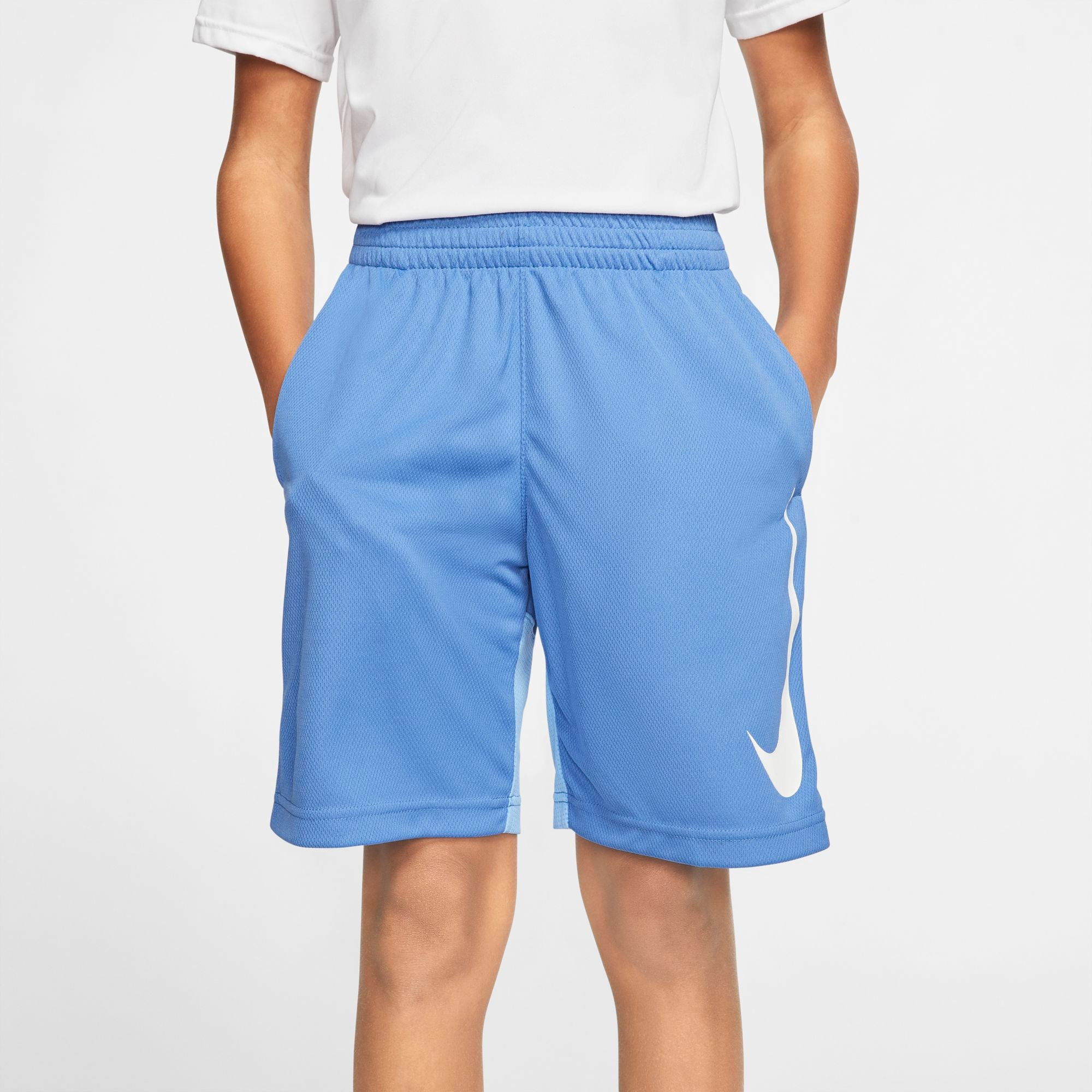 Nike Kids Dry Fit Basketball Shorts - Mountain Blue/University Blue/White