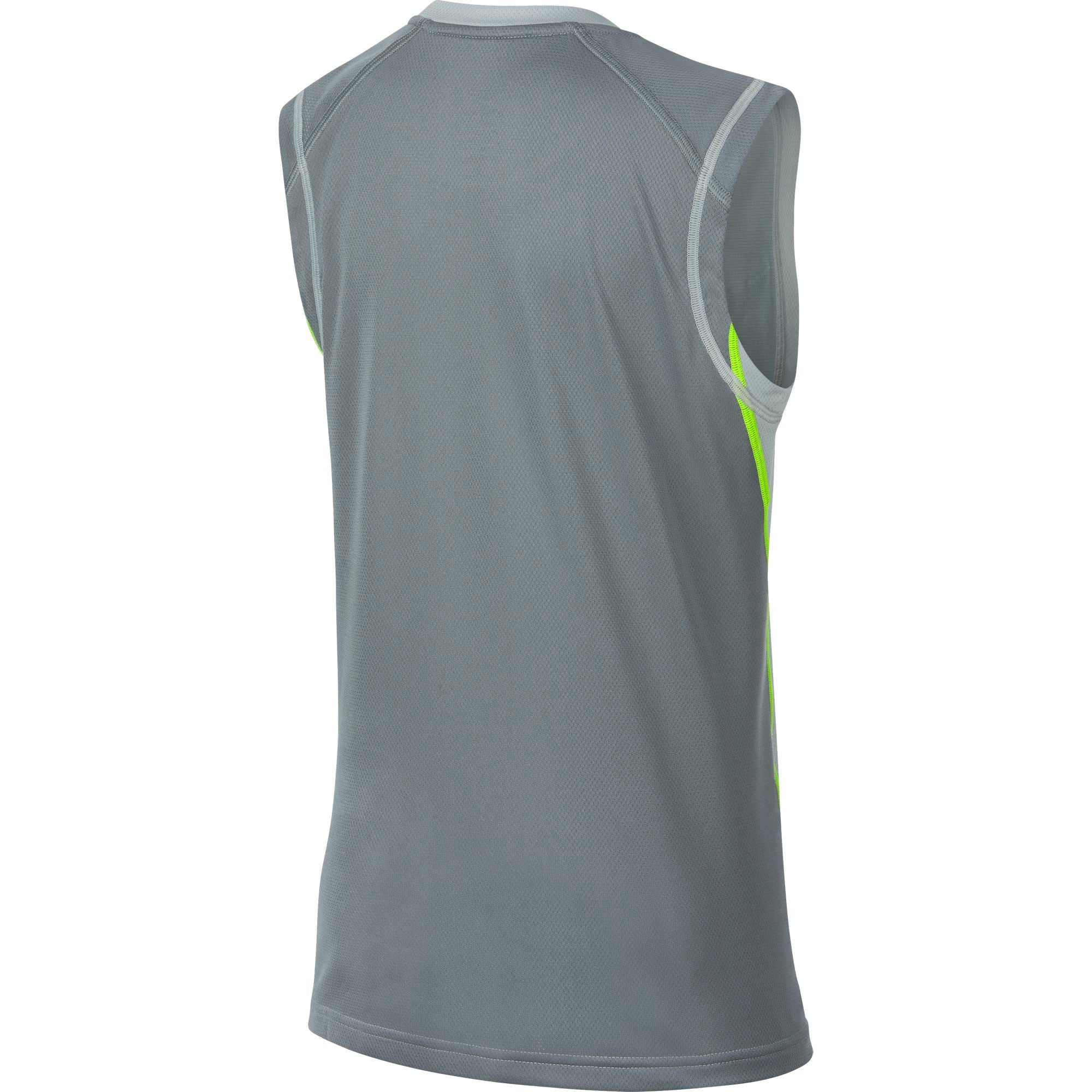 Nike Kids Training Dry Sleeveless Top - Wolf Grey/Cool Grey/Volt
