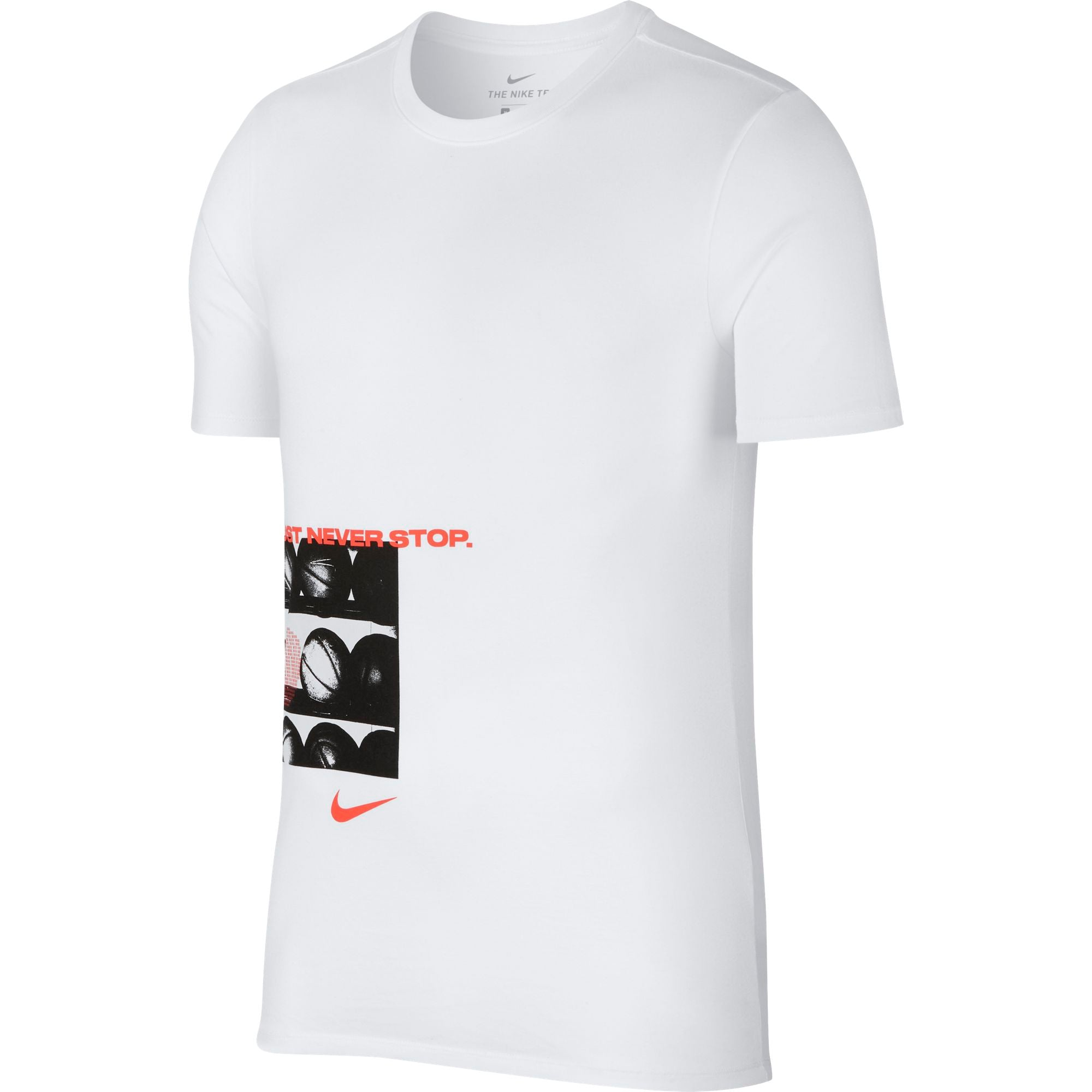 Nike Basketball Dry Just Never Stop Tee - NK-923687-100