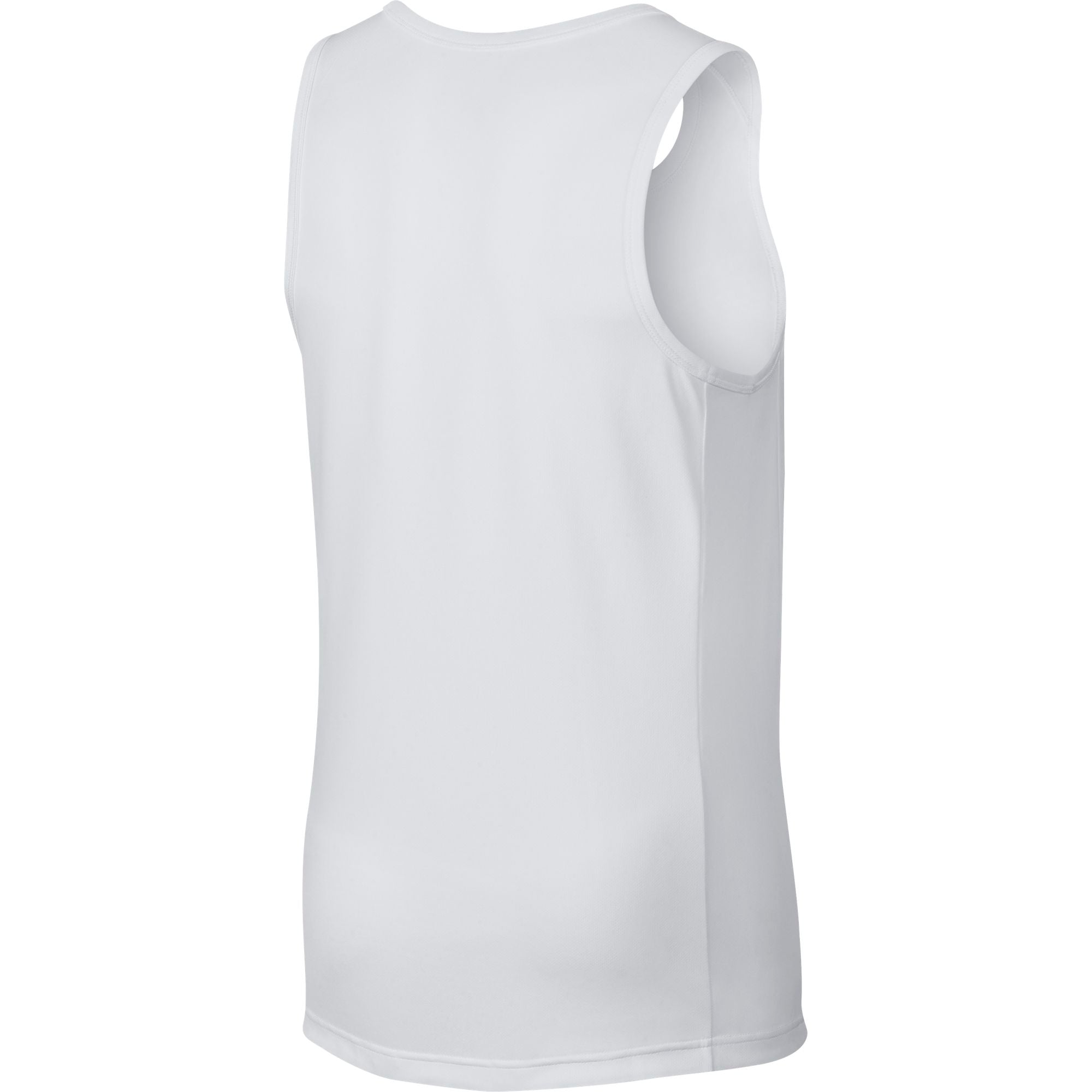 Nike Basketball Dry Fit Drop-Tail Top - White/Black