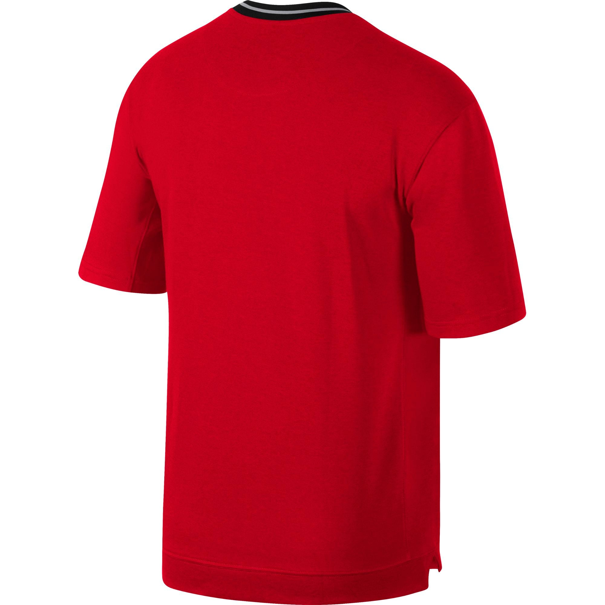 Nike Basketball Dry Fit Short Sleeved Top - University Red/Black