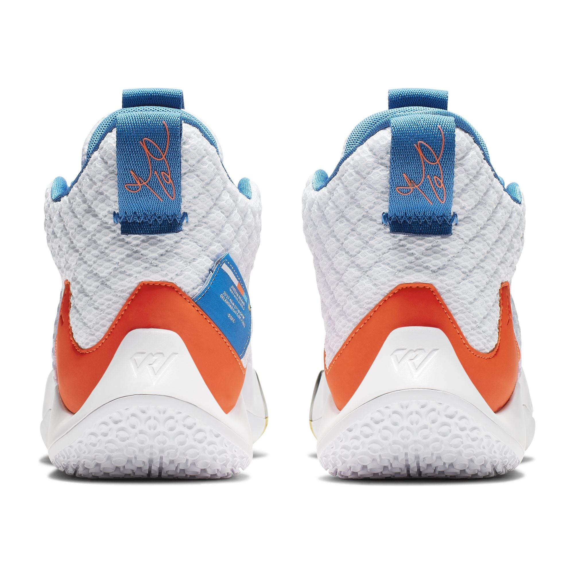 Nike Kids Jordan Why Not Zer0.2 Basketball Boot/Shoe - White/Total Crimson/Blue Lagoon