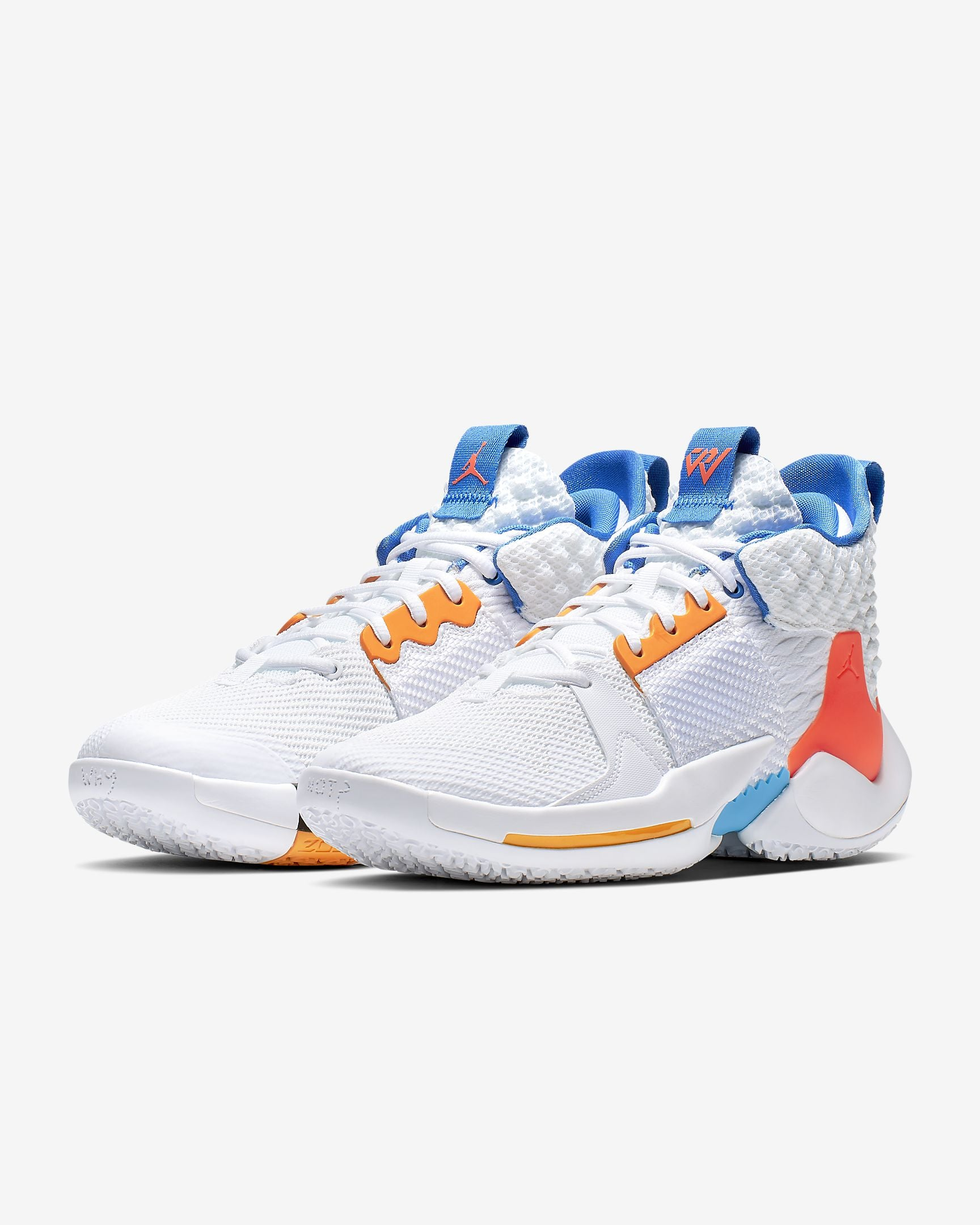 Nike Jordan Why Not Zer0.2 Basketball Boot/Shoe - White/Total Crimson/Blue Lagoon