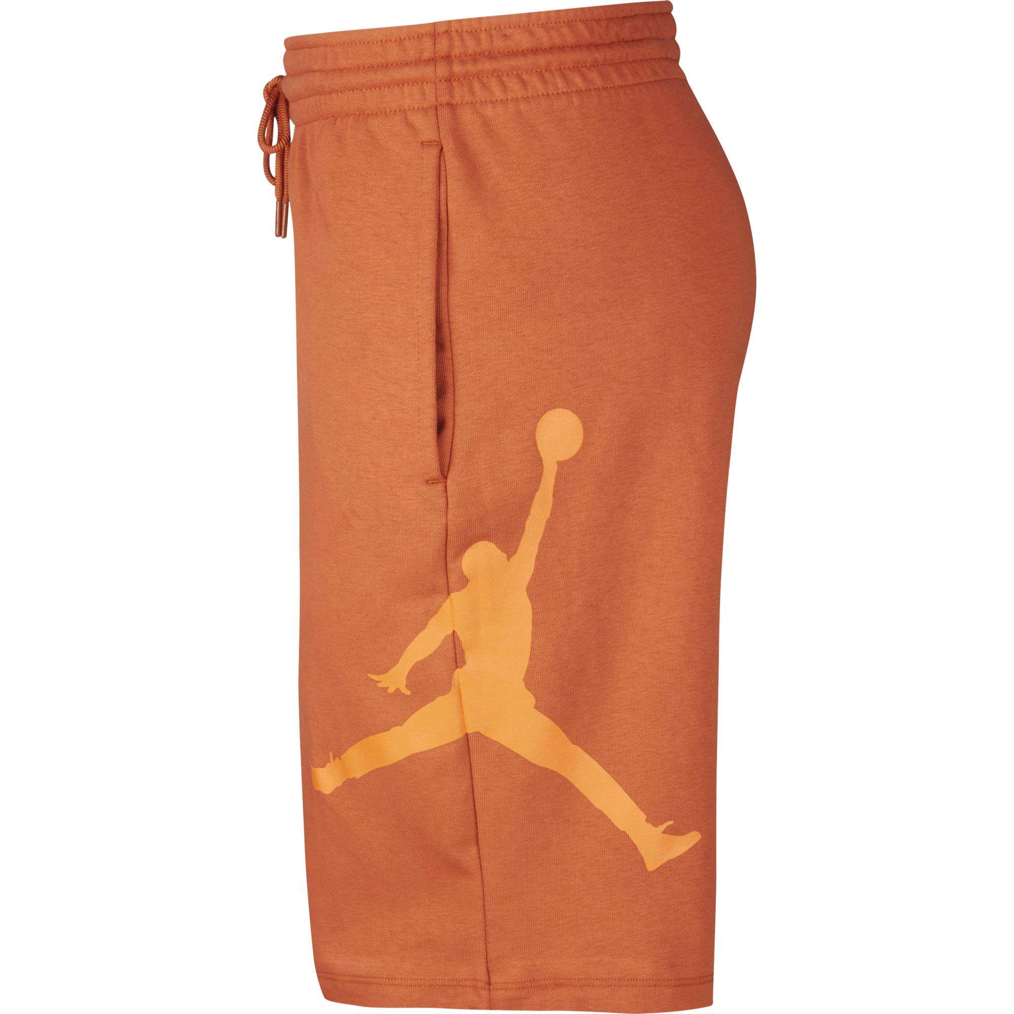 Nike Jordan Basketball Jumpman Logo Fleece Shorts - Dark Russet/Starfish