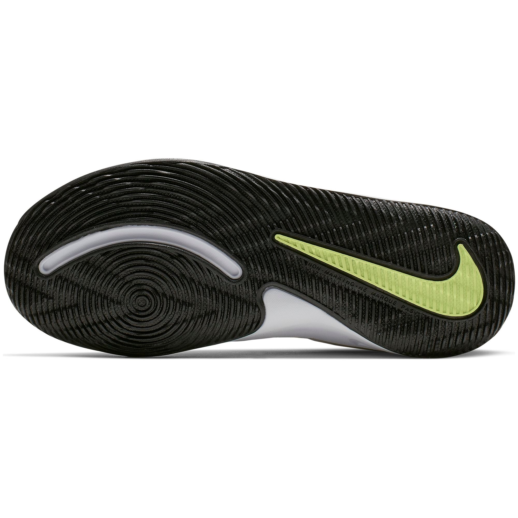 Nike Kids Team Hustle D 9 Basketball Boot/Shoe - White/Black/Volt