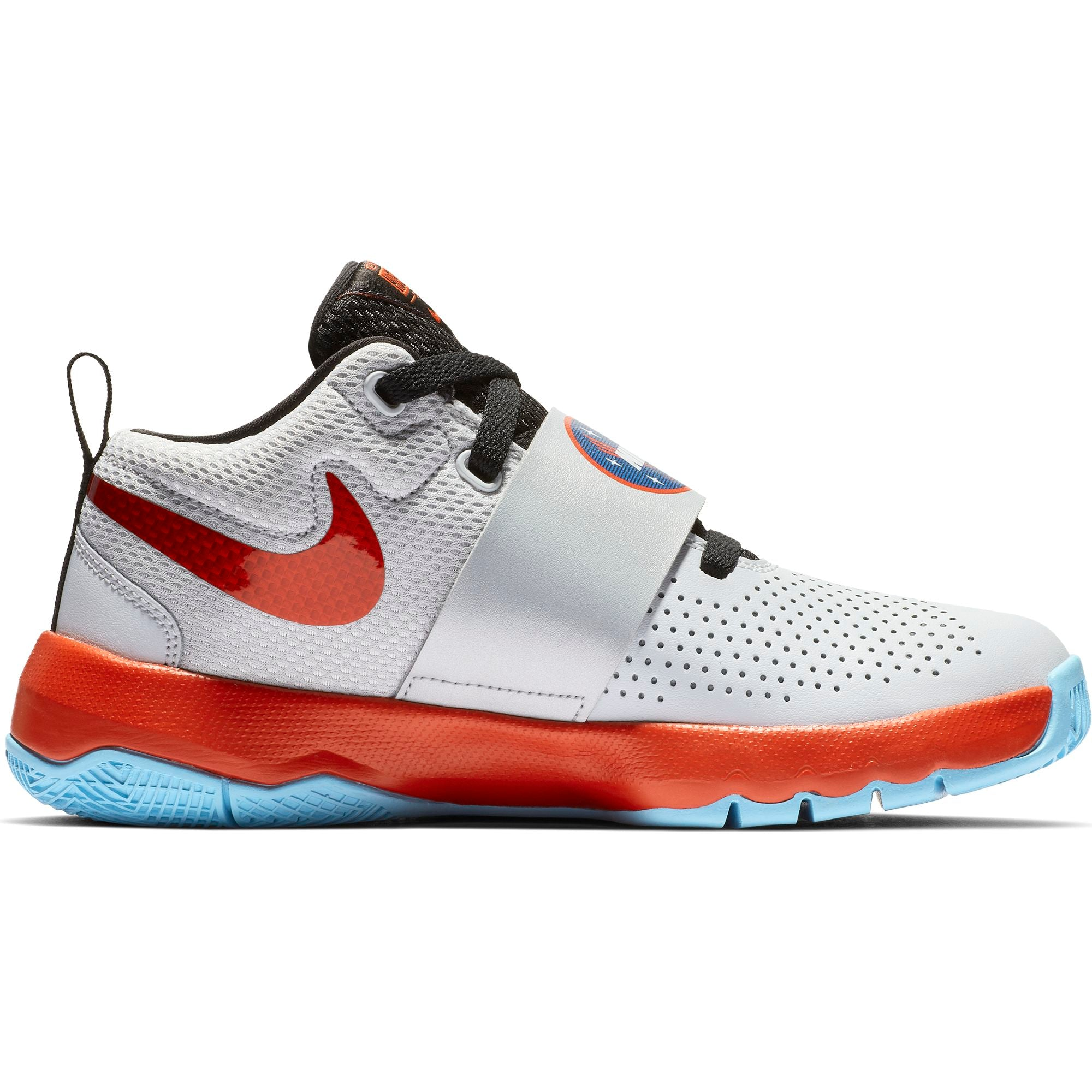 Nike Kids Team Hustle D 8 SD Basketball Boot/Shoe - Pure Platinum/Team Orange/Black