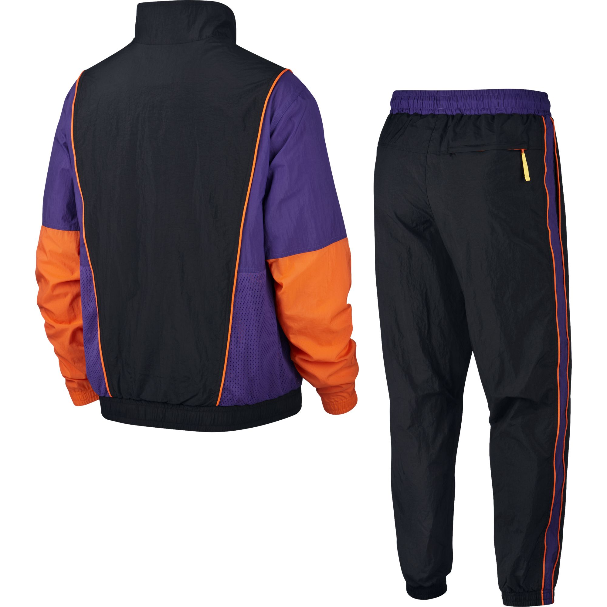 Nike Basketball Throwback Woven Tracksuit - Black/Field Purple/Brilliant Orange/White