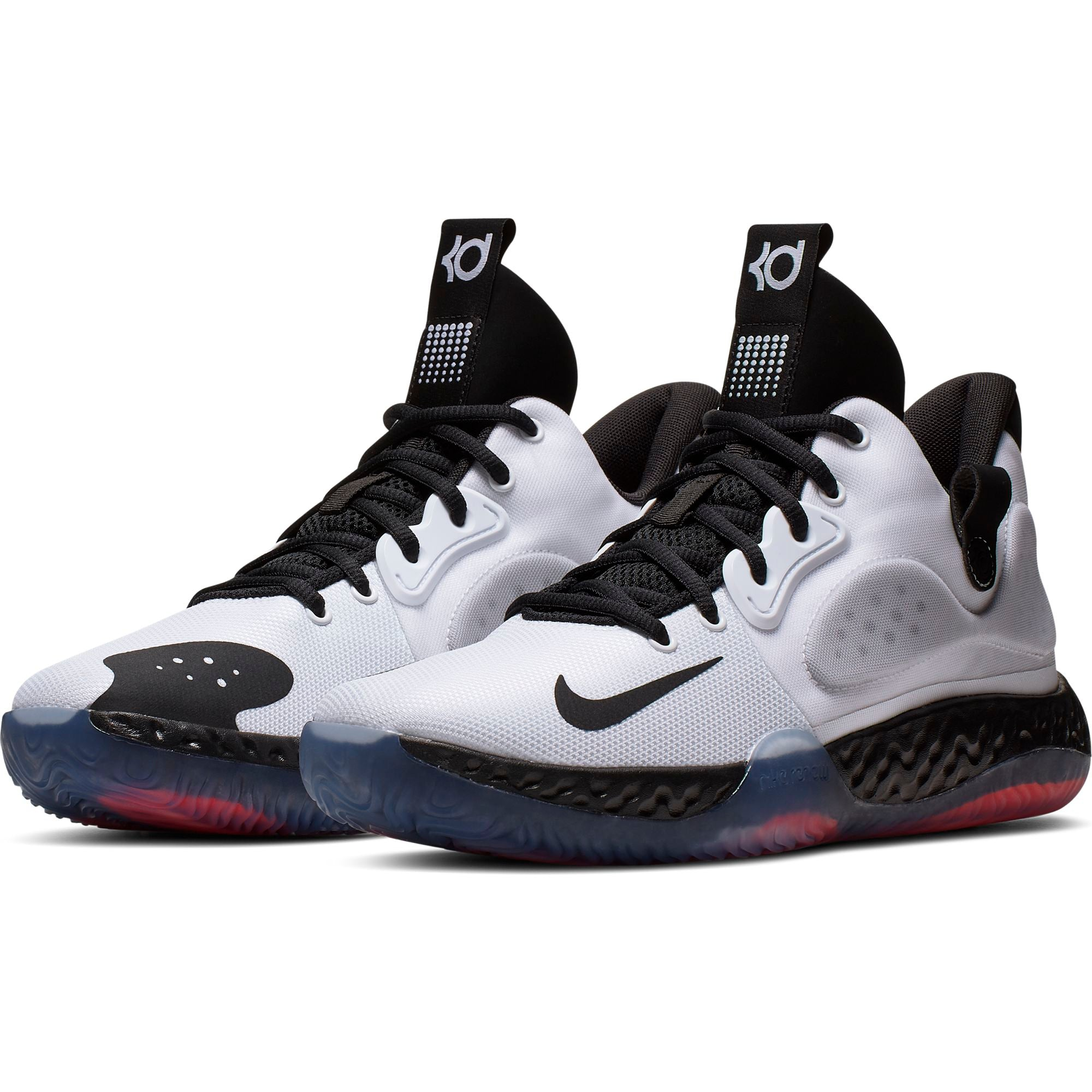 Nike KD Trey 5 VII Basketball Shoe - White/Black/Wolf Grey/Bright Crimson