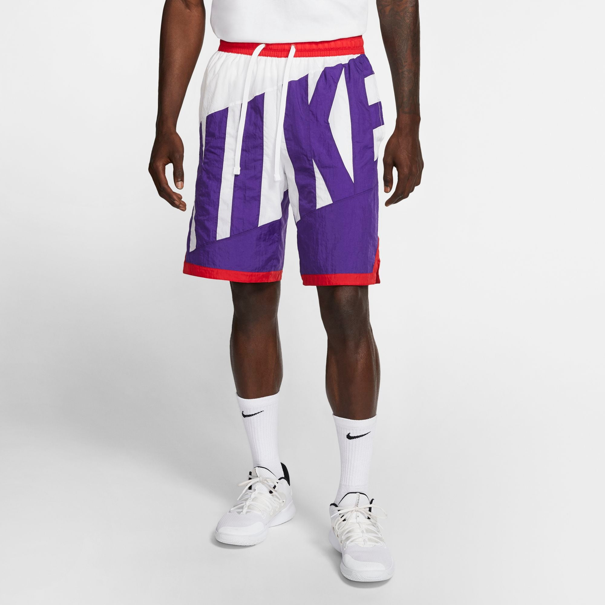 Nike Basketball Dri-fit Throwback Shorts - White/Court Purple