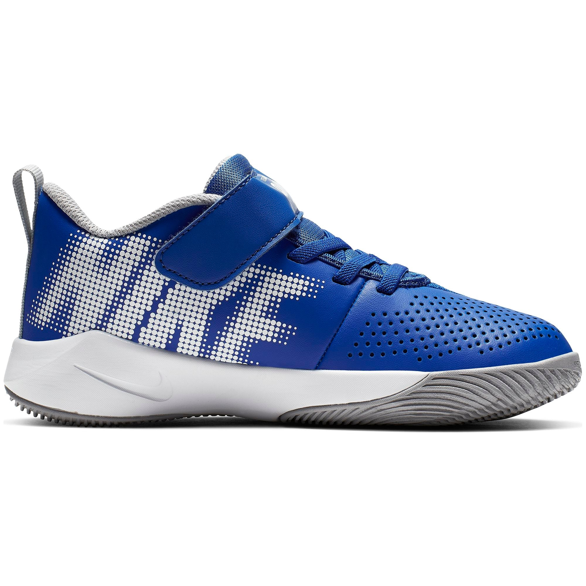 Nike Kids Team Hustle Quick 2 Basketball Shoe - Game Royal/White/Wolf Grey