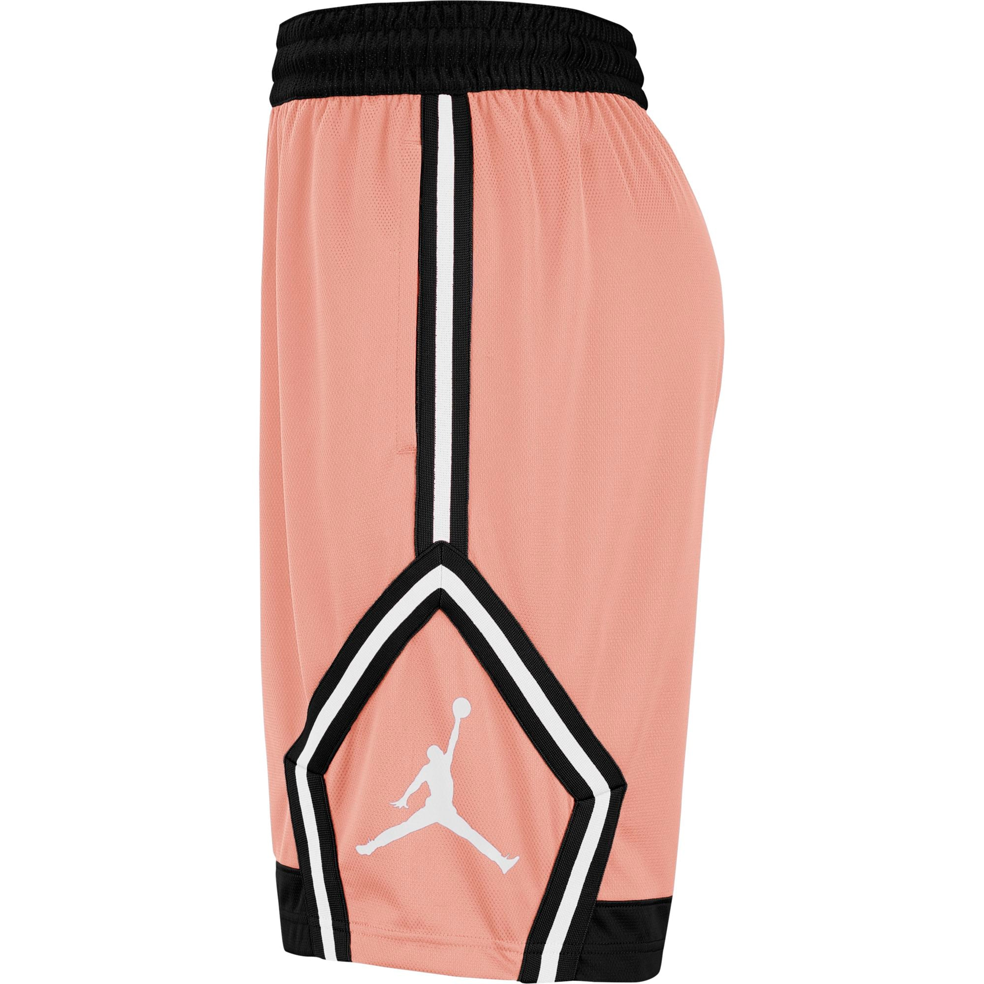Nike Jordan Jumpman Diamond Basketball Shorts - Coral Stardust/Black