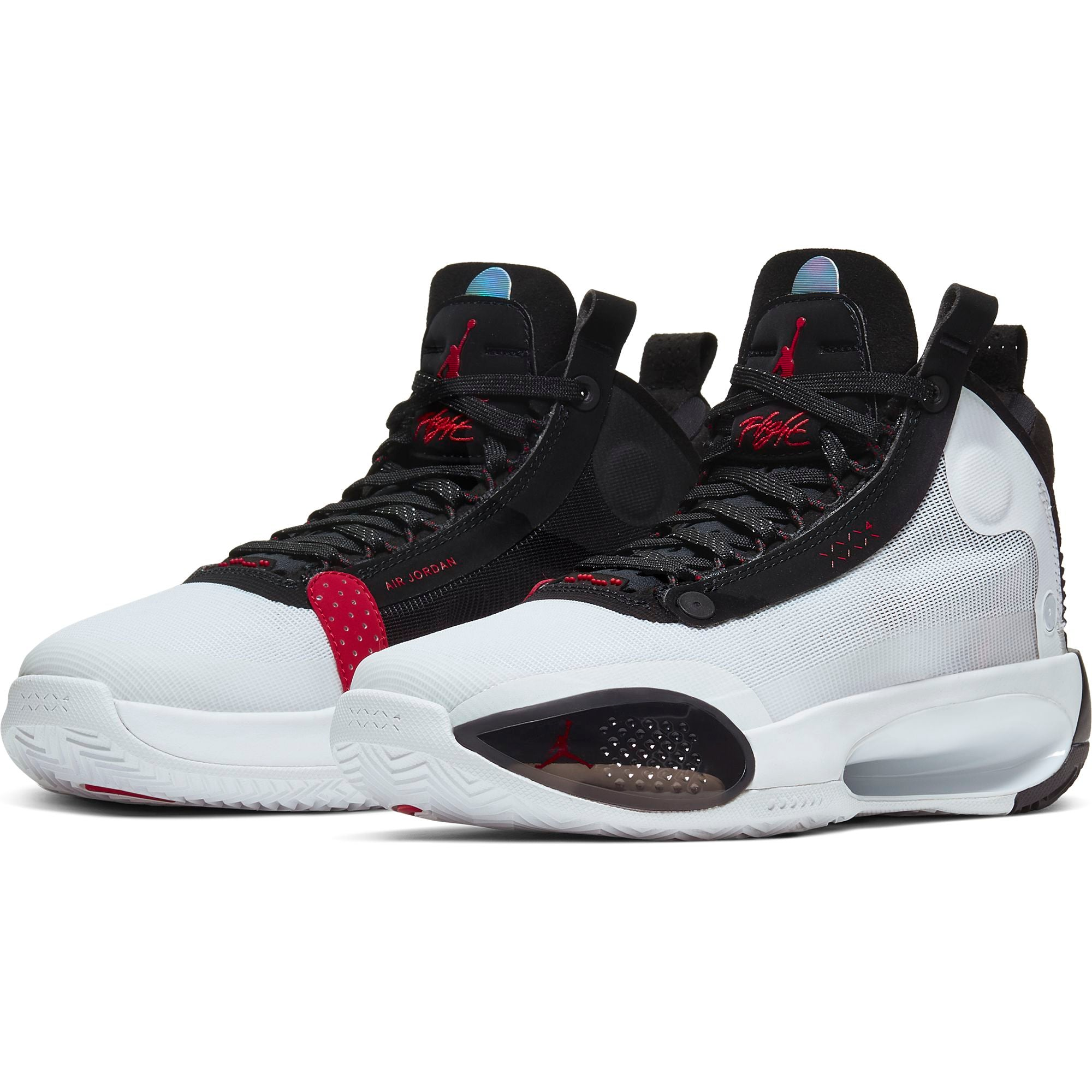 Nike Kids Jordan Air XXXIV Basketball Boot/shoe - White/University Red/Black