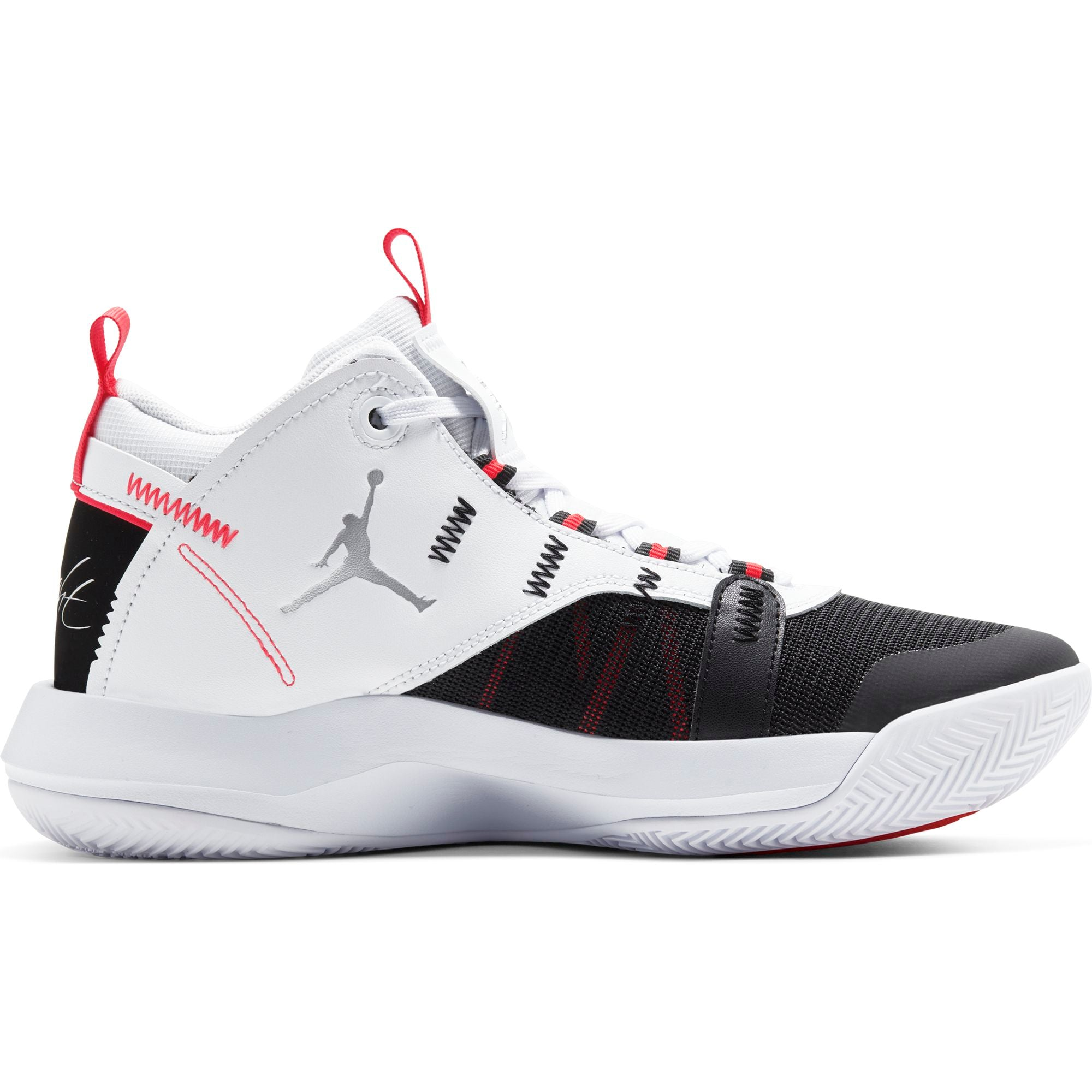 Nike Jordan Jumpman 2020 Basketball Boot/shoe - White/Metallic Silver/Black/Red Orbit