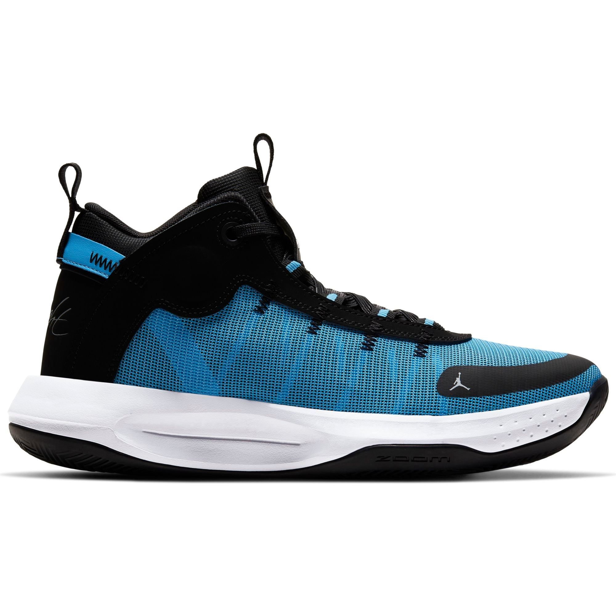 Nike Jordan Jumpman 2020 Basketball Boot/shoe - University Blue/Metallic Silver/Black