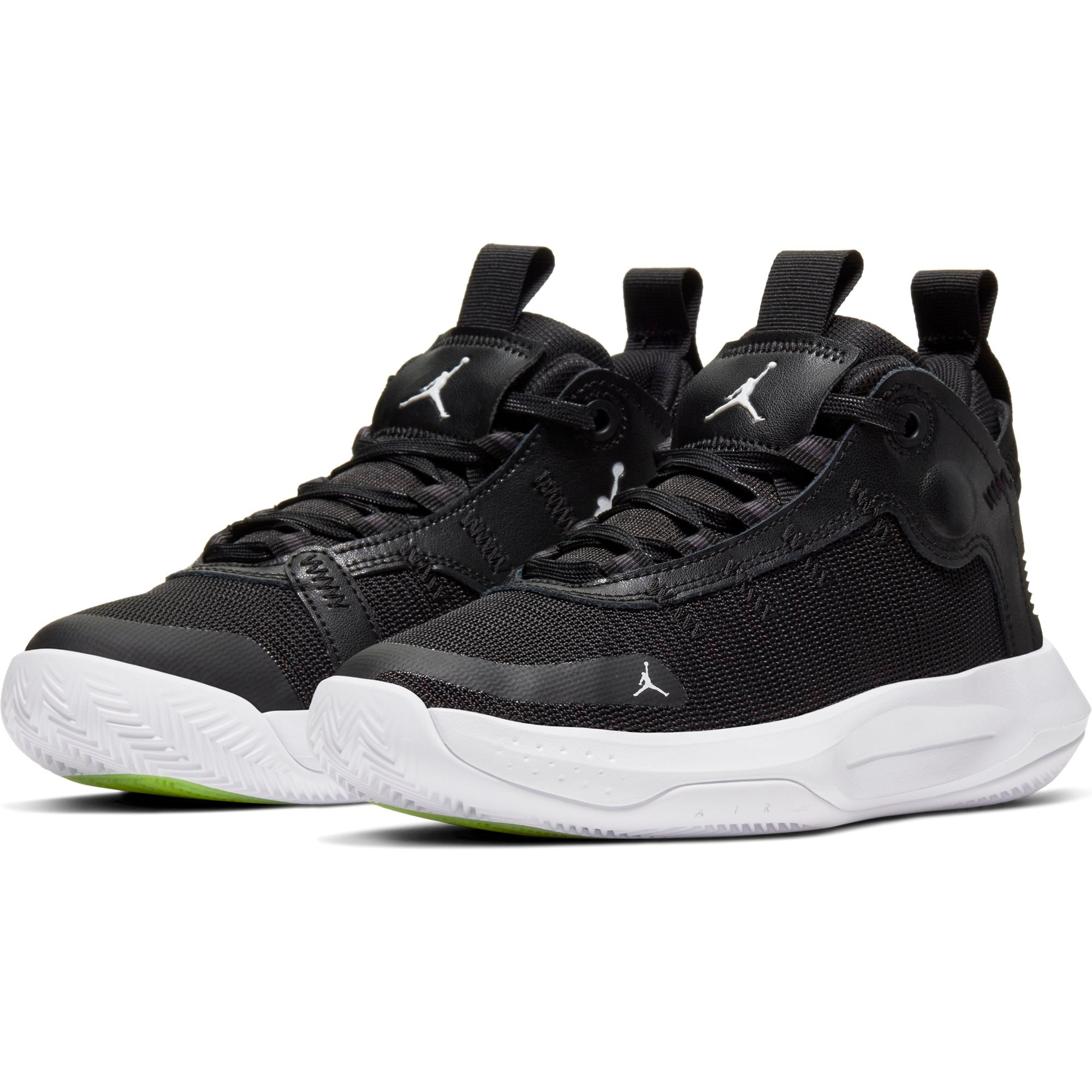 Nike Kids Jordan Jumpman 2020 Basketball Boot/shoe - Black/White/Electric Green