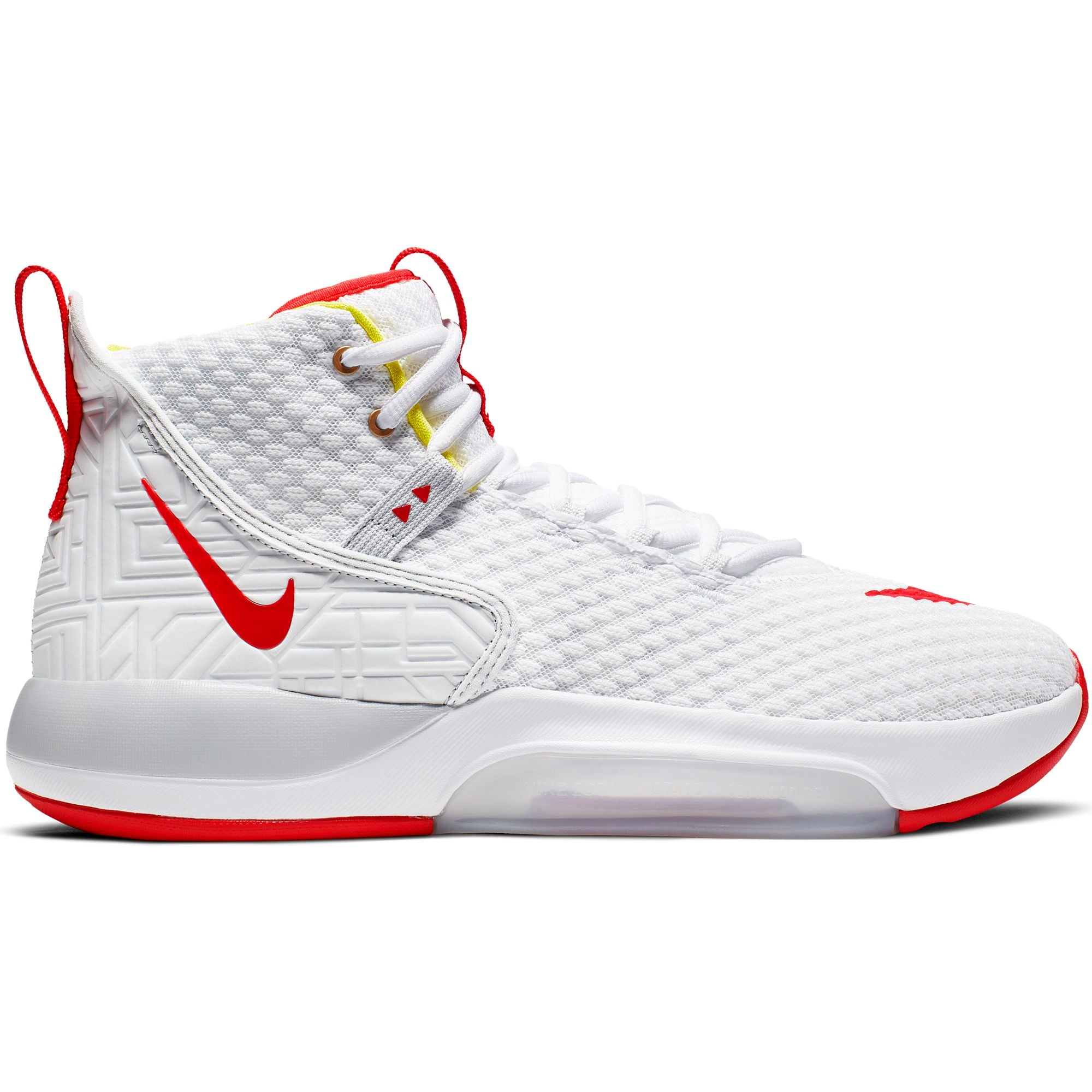 Nike Basketball Zoom Rize Boot/Shoe - White/Red Orbit/Aurora Green