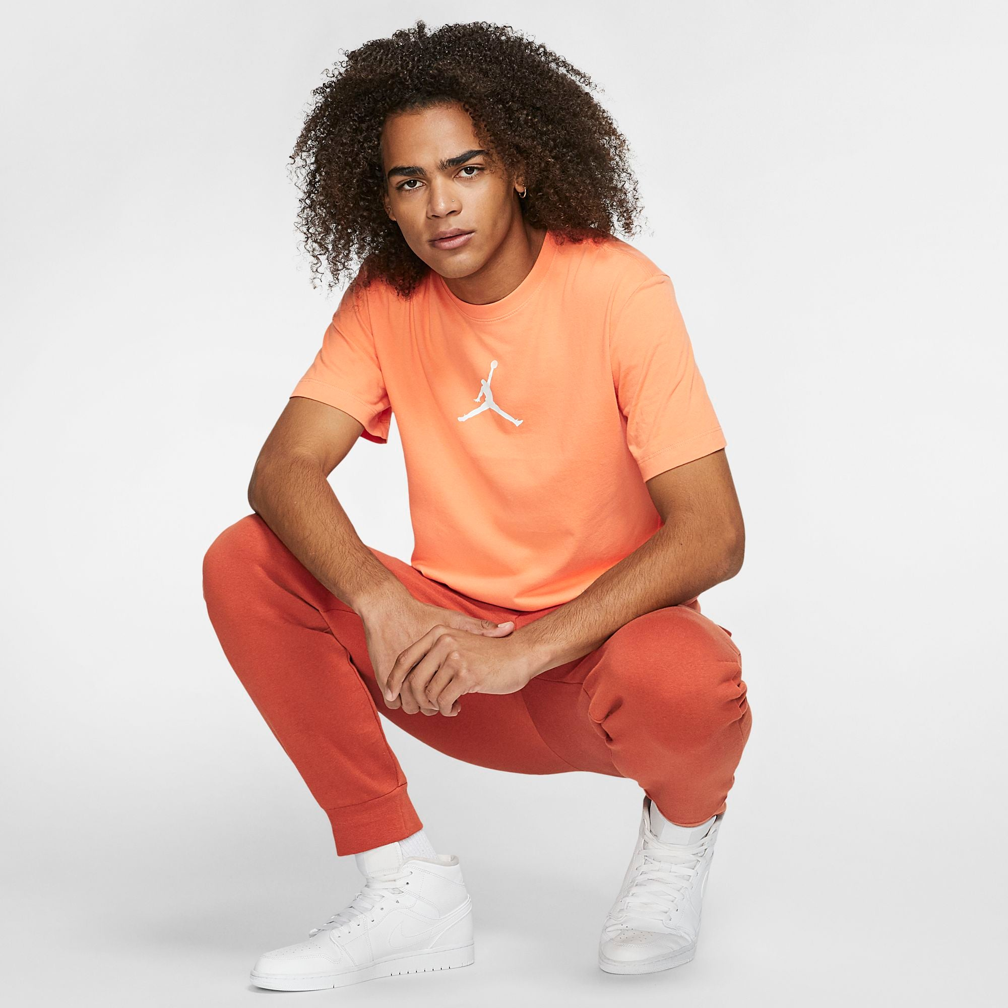 Nike Jordan Jumpman Tee - Orange Trance/White