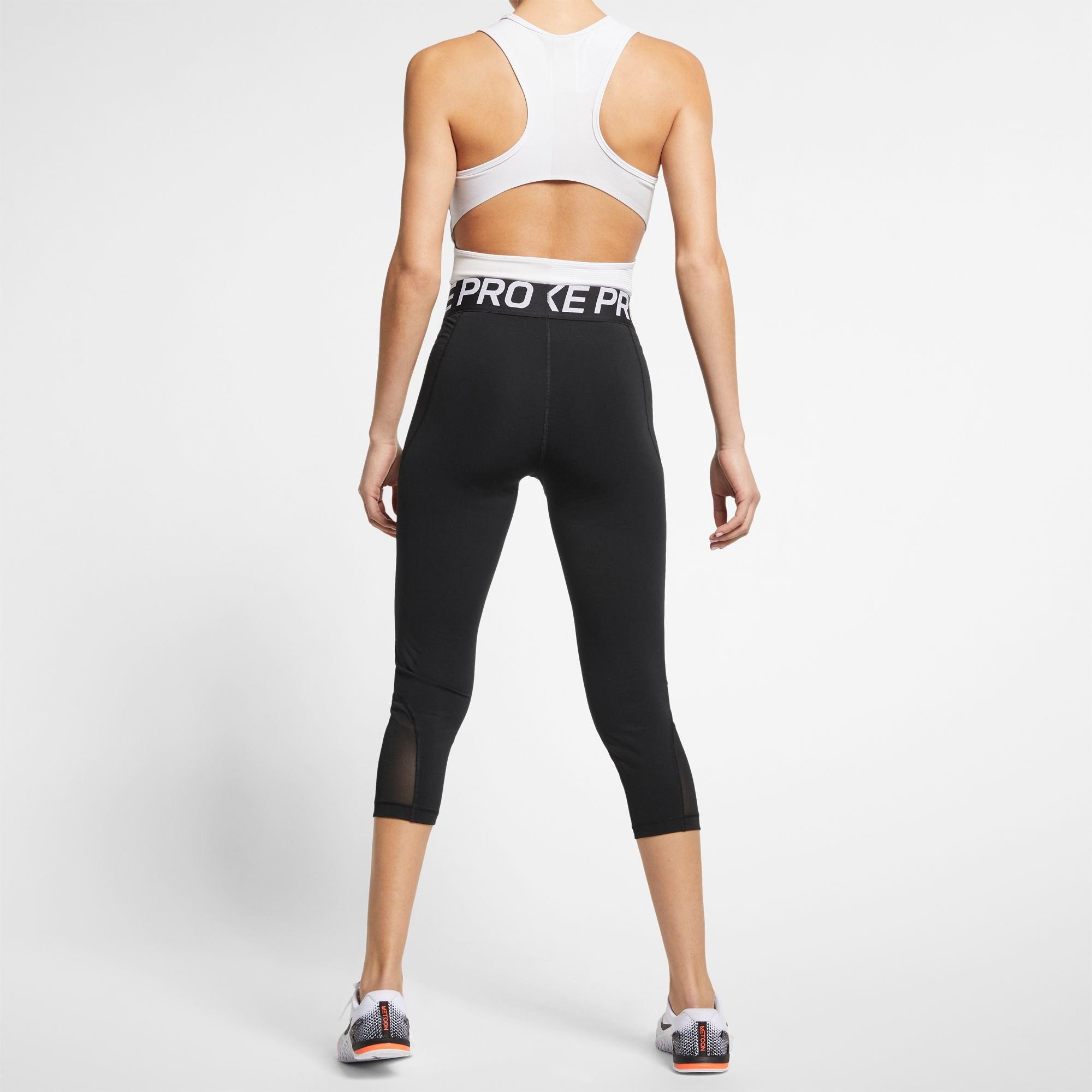 Nike Womens Pro Capris - Black/White