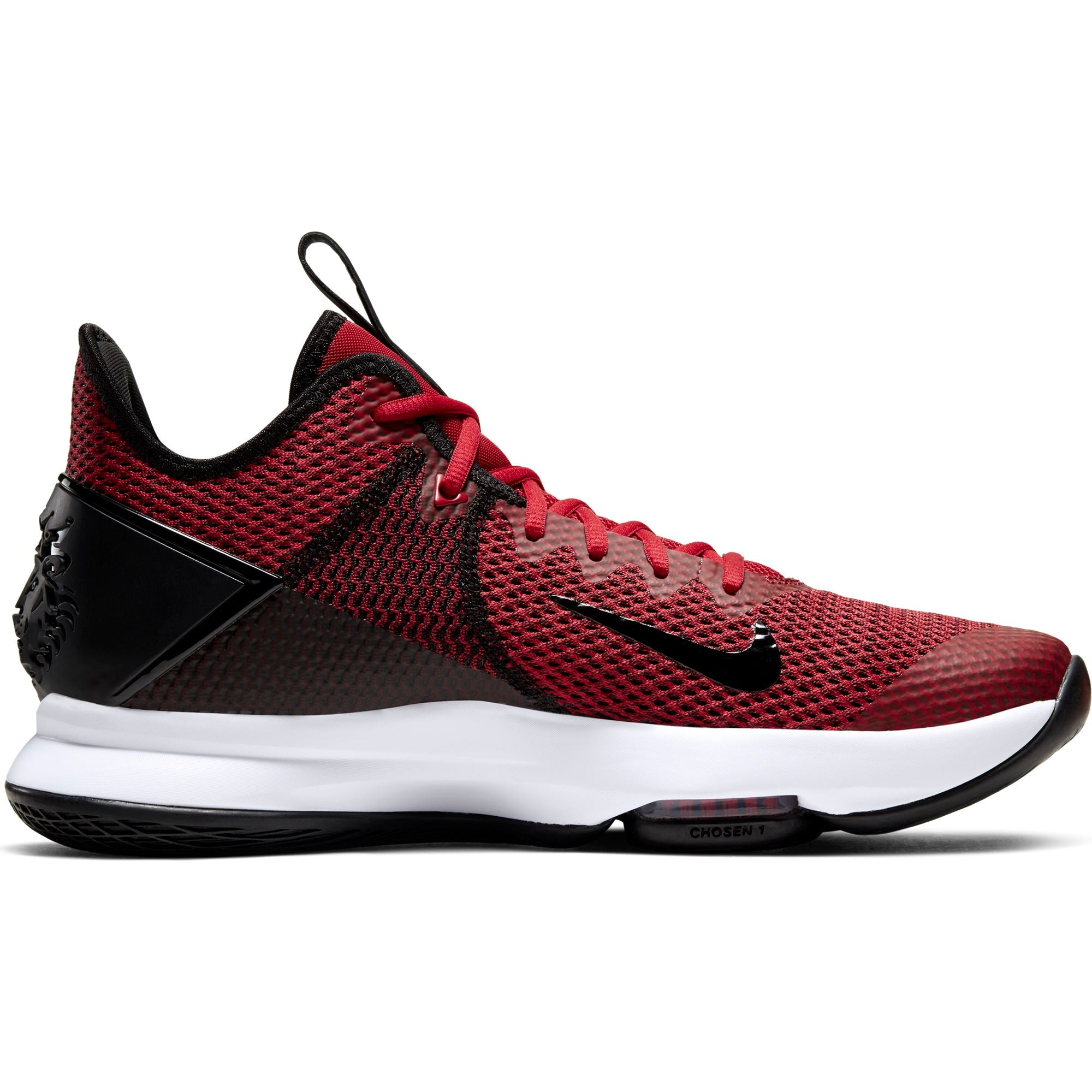 Nike Lebron Witness 4 Basketball Boot/shoe - Black/Gym Red/White