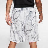 Nike Basketball Dri-Fit HBR Marble Shorts - White/Black
